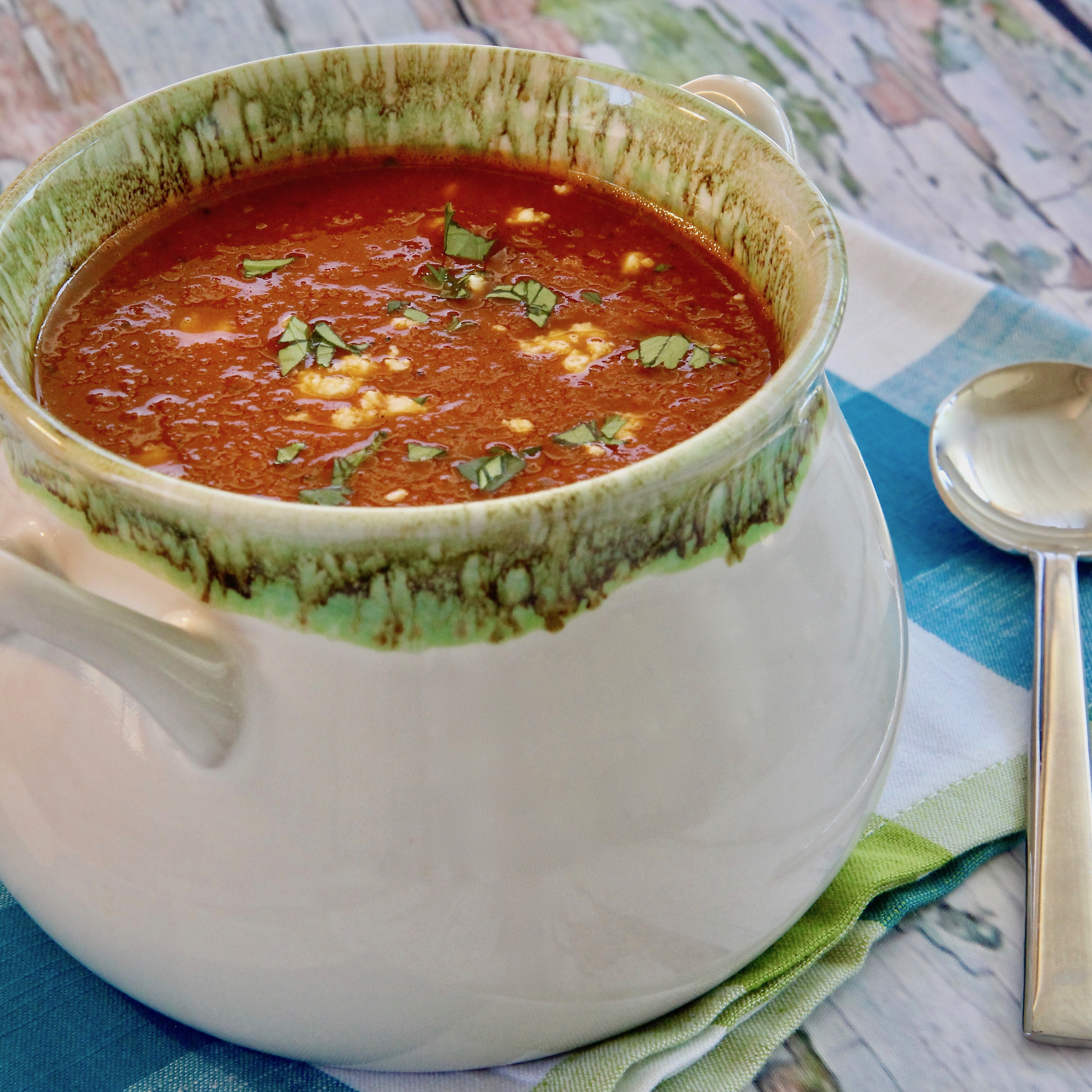 Fire-Roasted Tomato and Pepper Soup