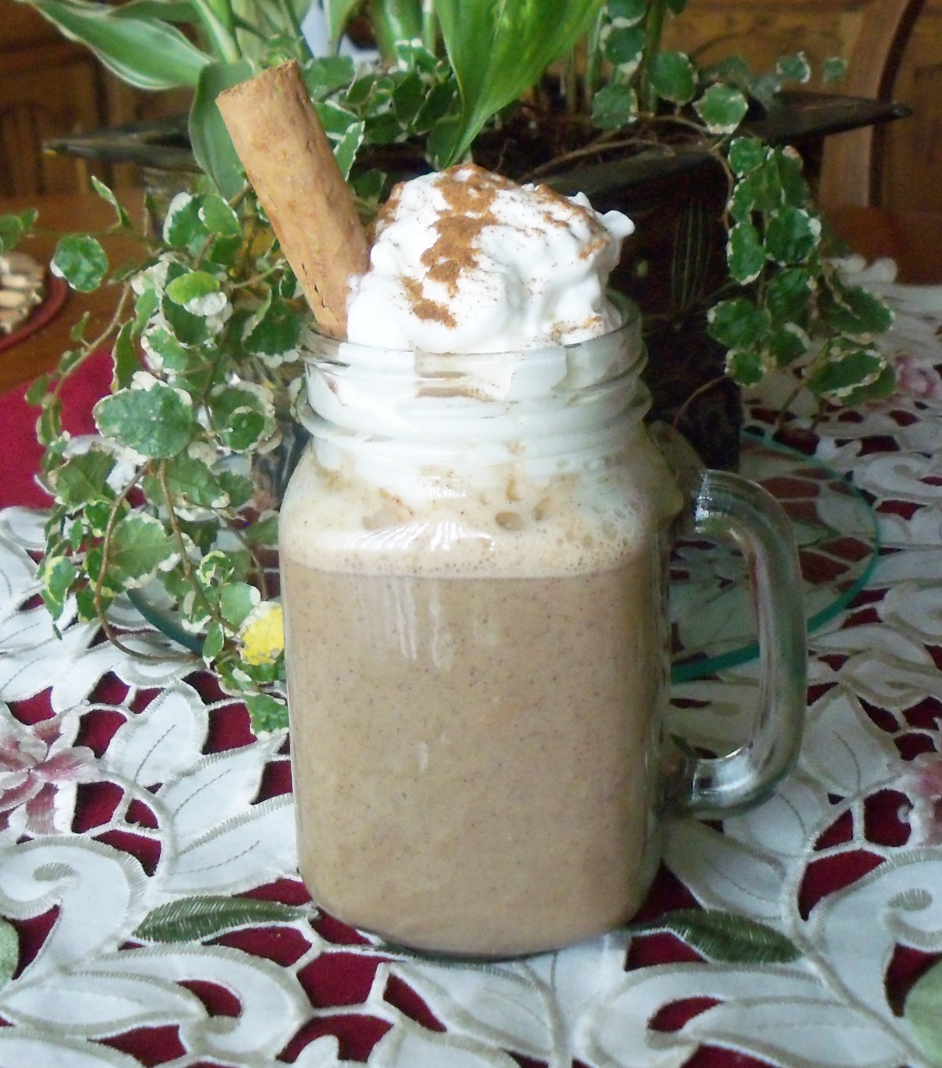 Pumpkin Spice White Hot Chocolate Yoly