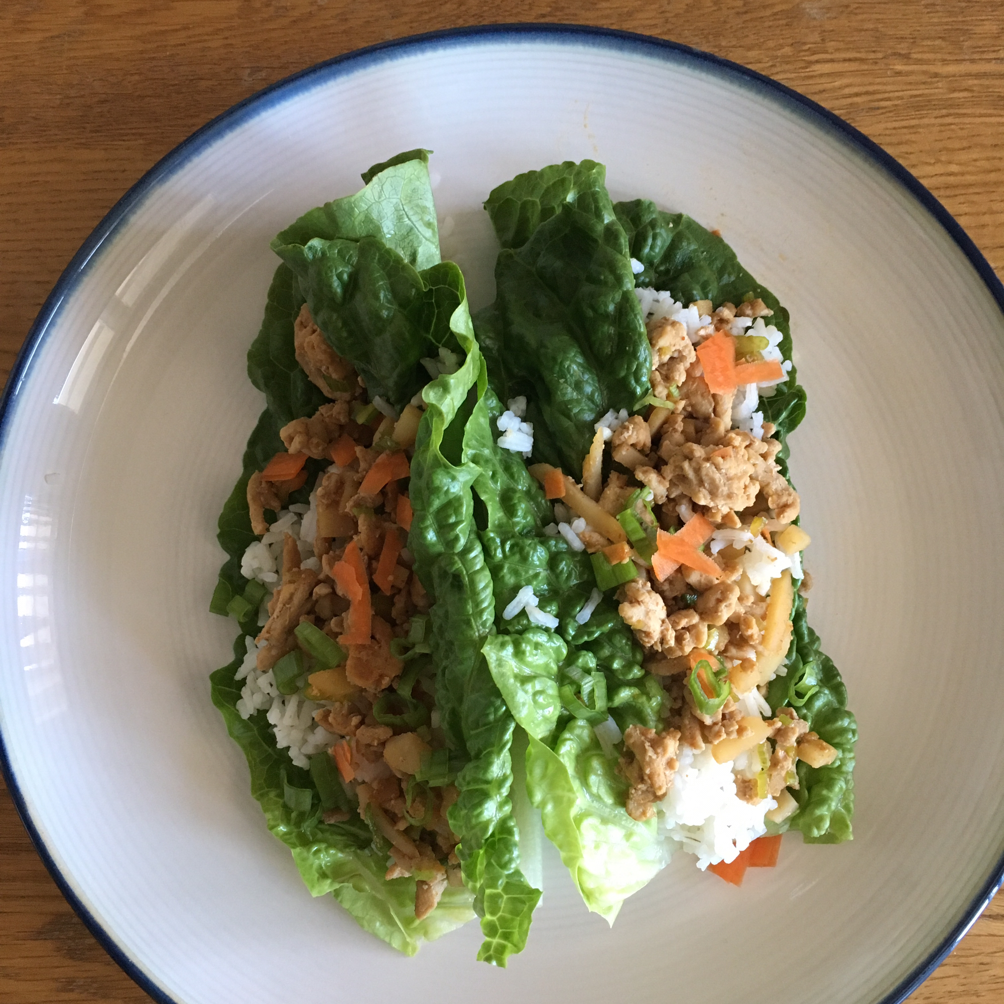 Asian Chicken and Rice Lettuce Wraps Katie Dillman