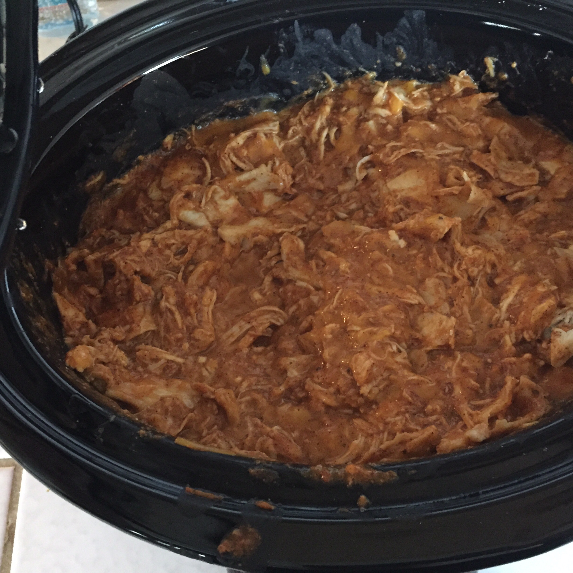 Super Easy Slow Cooker Chicken Enchilada Meat Dtchgrl