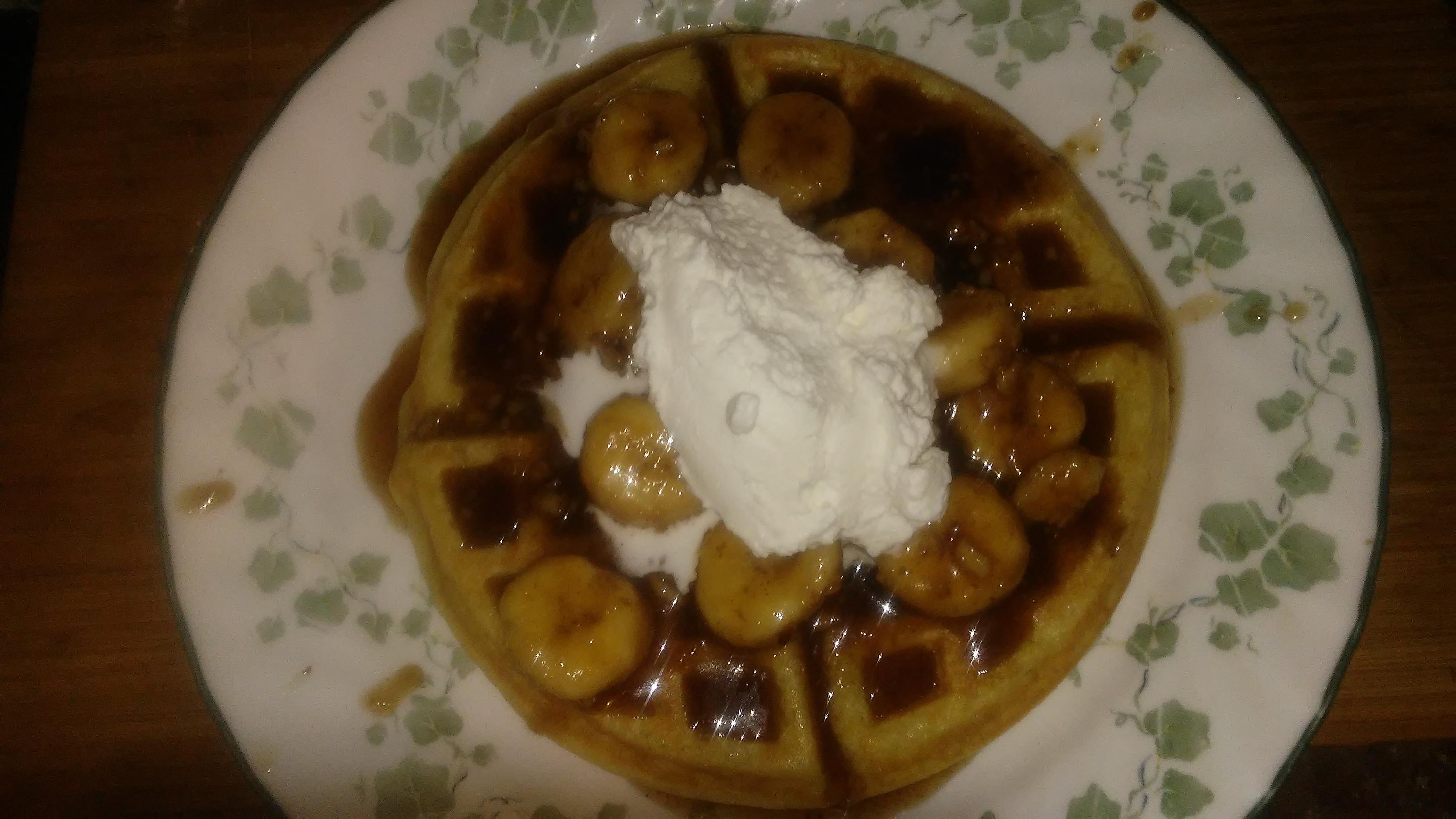 Bananas Foster Belgian Waffles Cindy Lee Barker