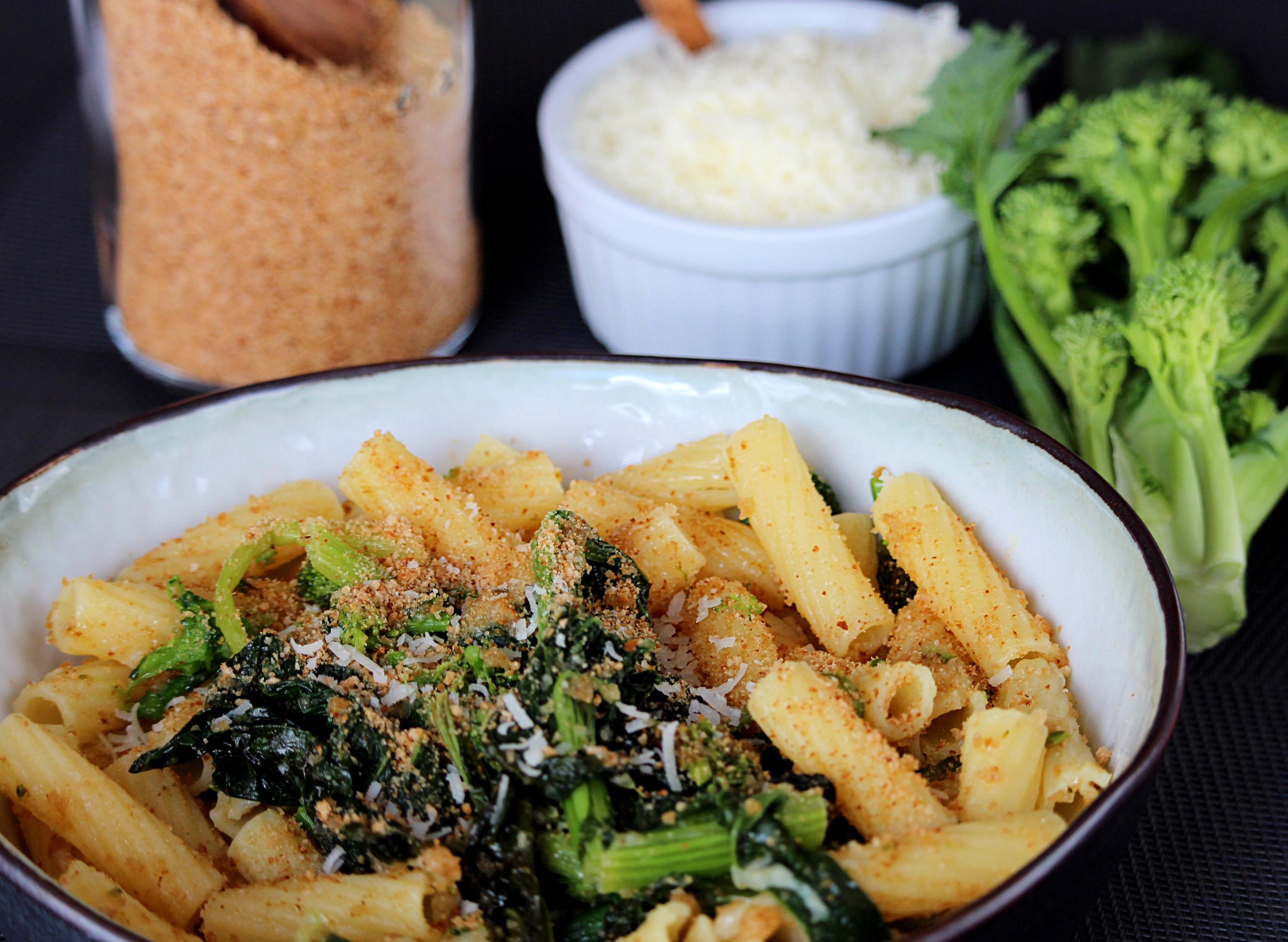 Pasta with Broccoli Rabe (Cima di Rapa) Buckwheat Queen