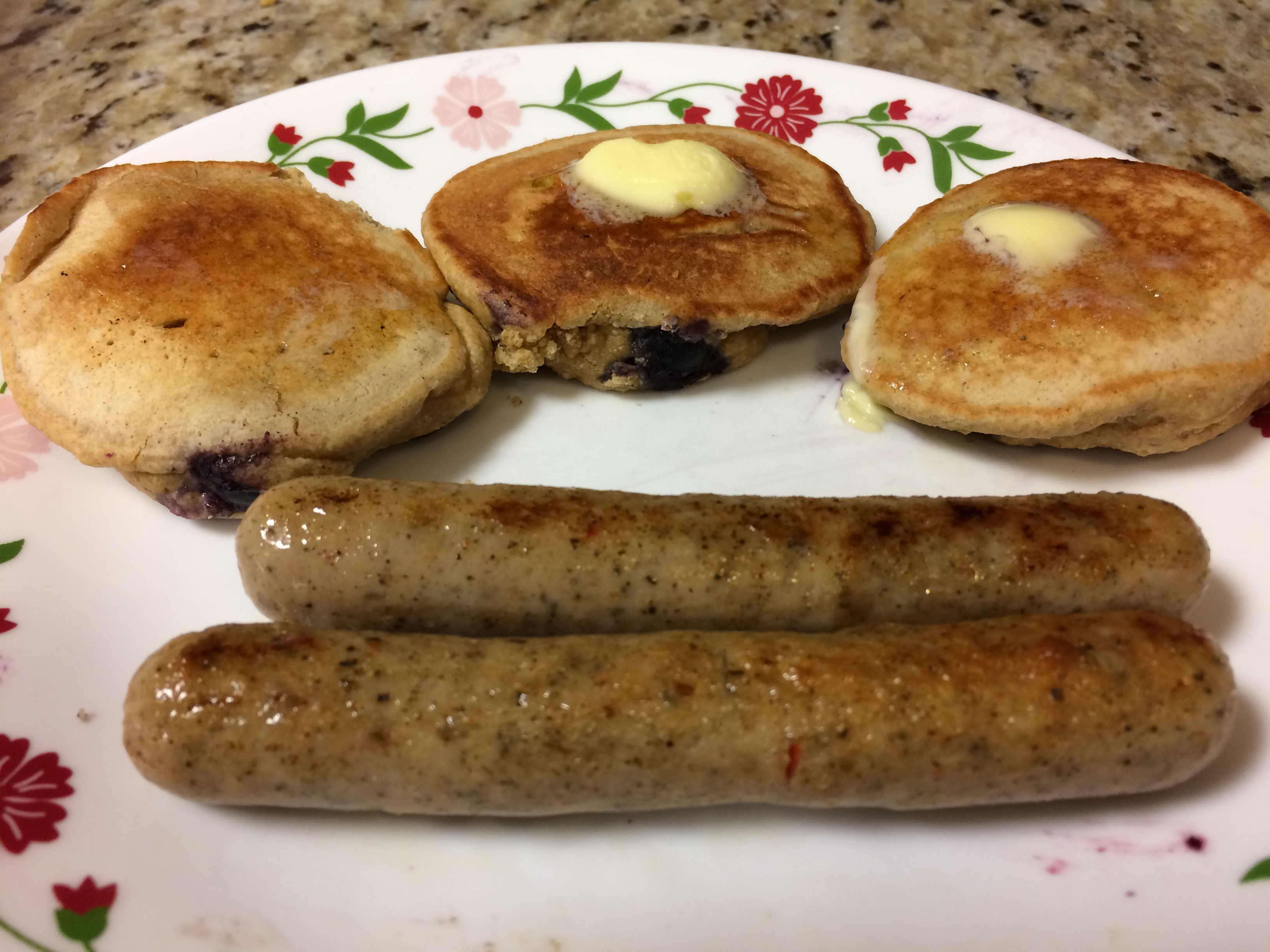 Blueberry Oatmeal Pancakes southernmainegirl