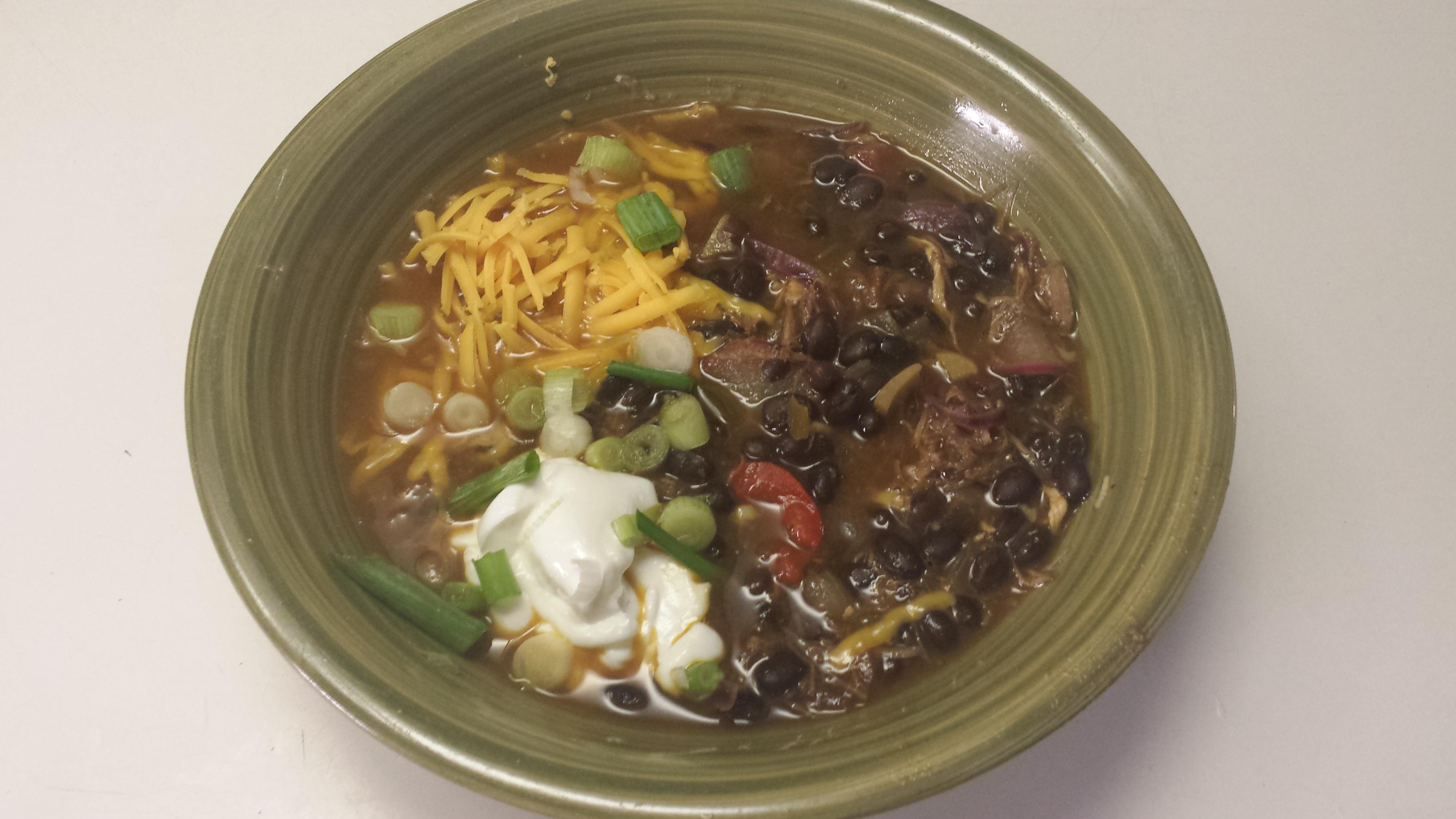 Patty's Mom's Black Bean Soup James