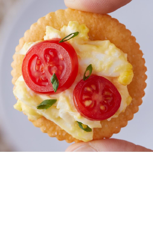RITZ Egg Salad-Tomato Bites