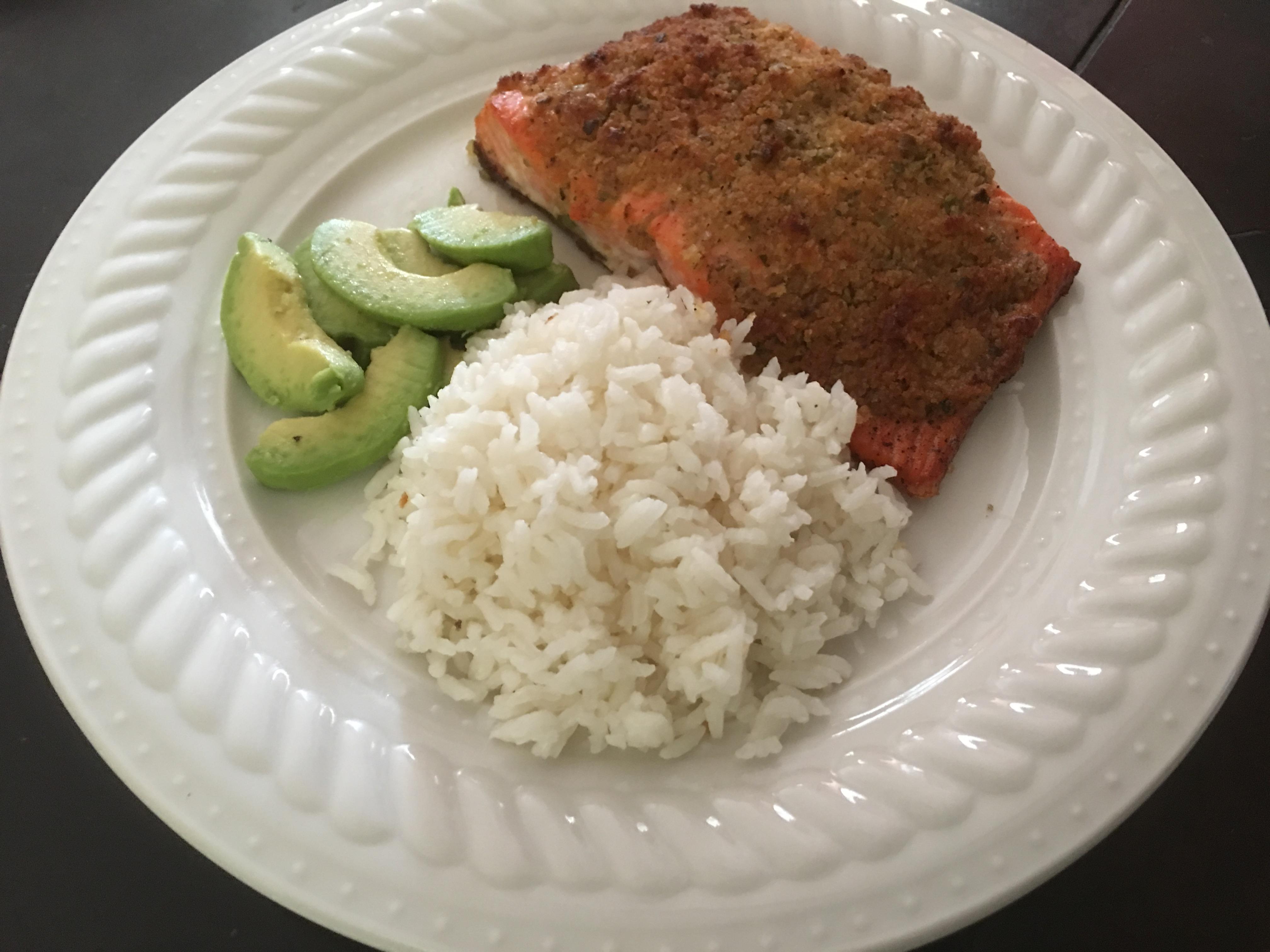 Delicious Feta-Crusted Salmon Chef Roy