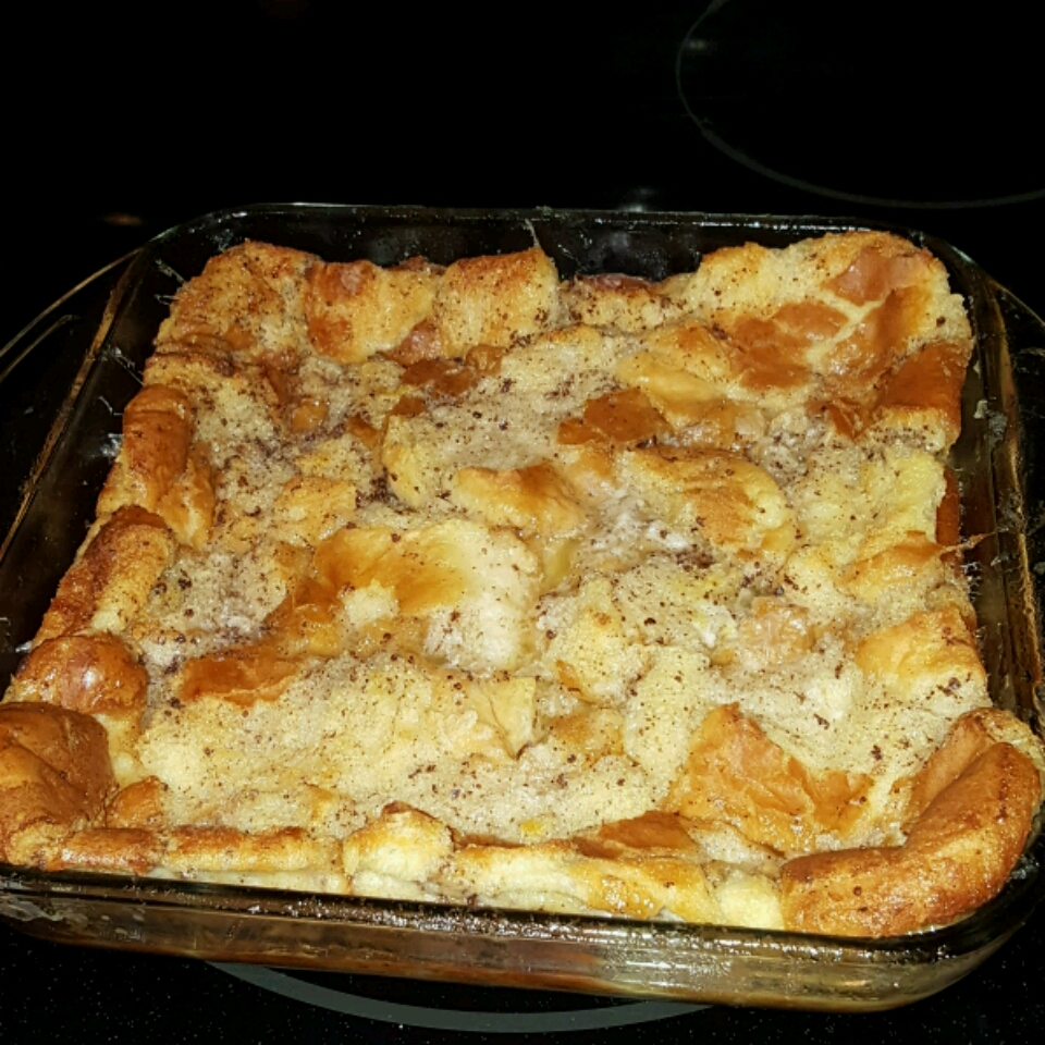 Bread Pudding with Whiskey Sauce and Fruit Ay Cee