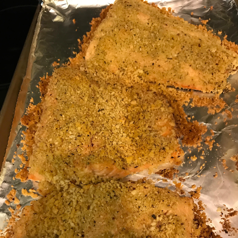 Lemon Panko Crusted Salmon