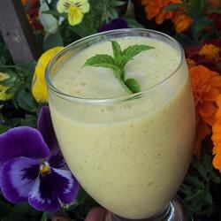 Mango-Mint Lassi with Indian Sweet Spices Sarah-May