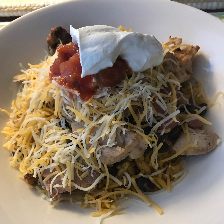 One-Skillet Chicken Burrito Bowls Megan Thompson