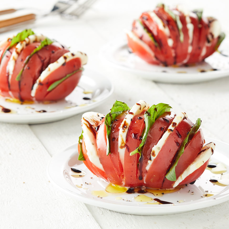 Hasselback Tomato Caprese Salad Carolyn Casner