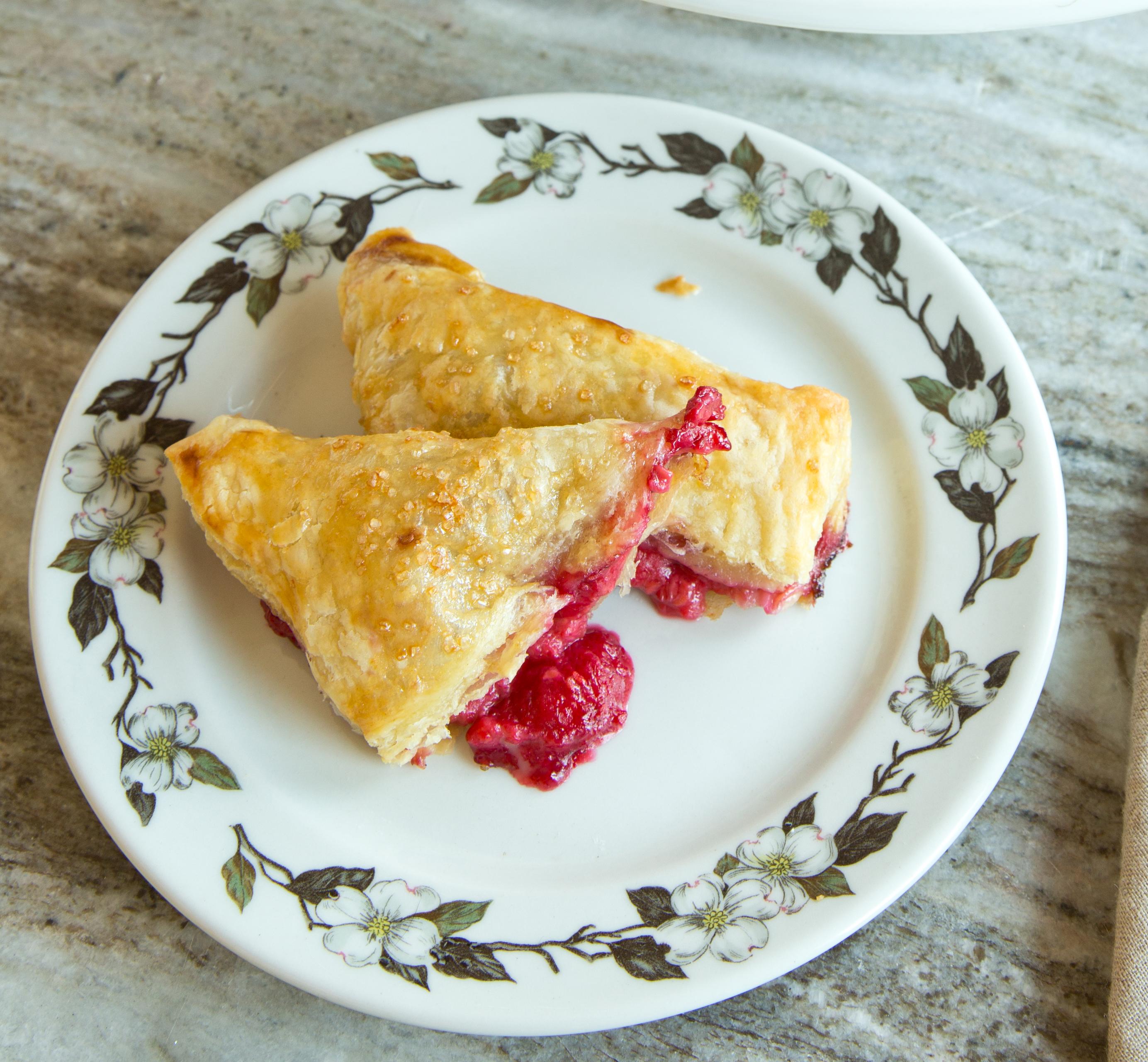 Fresh Raspberry Turnovers