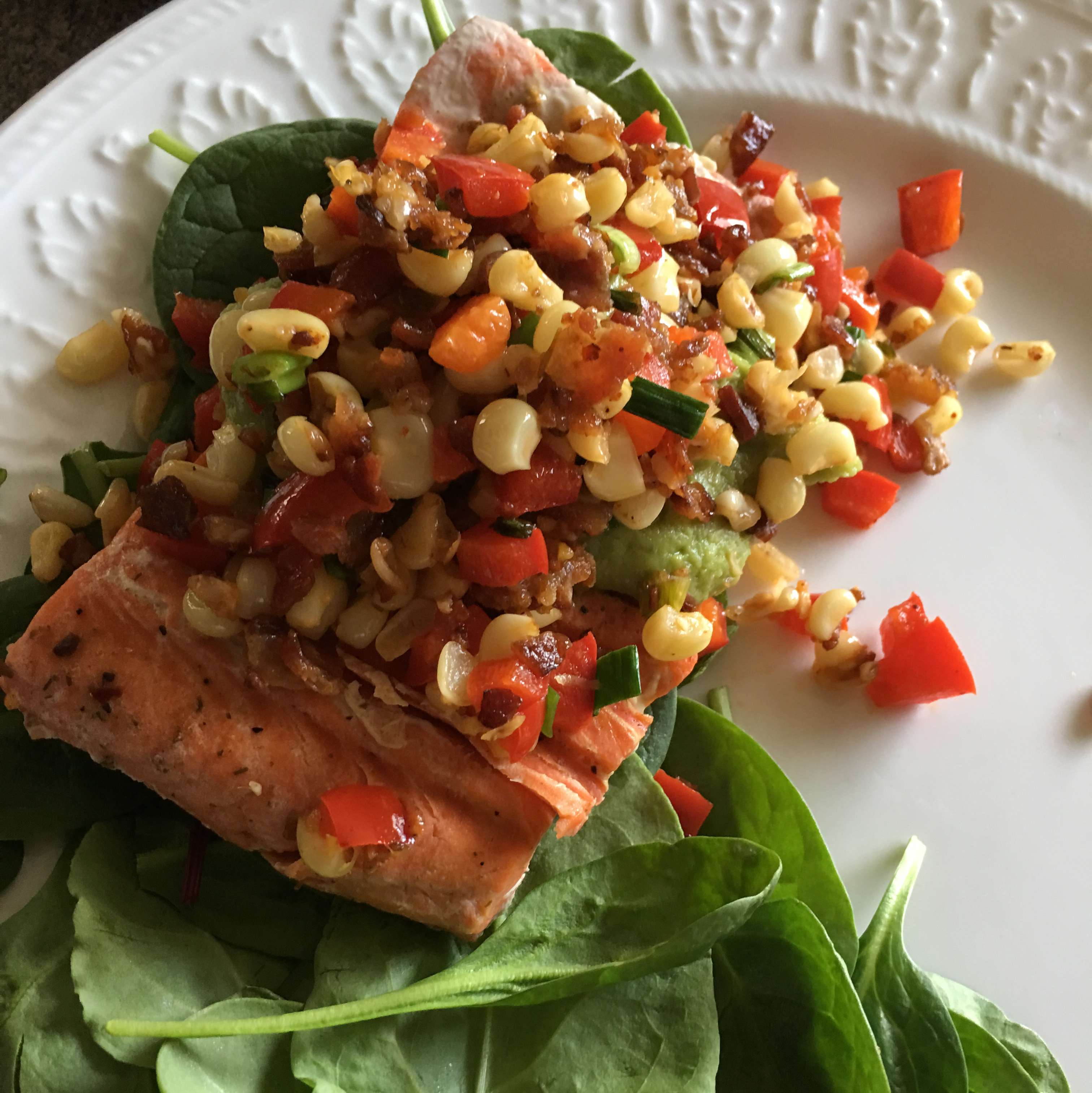Grilled Salmon with Bacon and Corn Relish MuklukAnnie