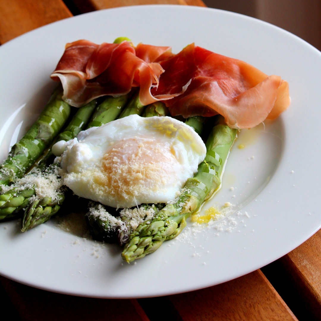 Roasted Asparagus Prosciutto and Egg Buckwheat Queen