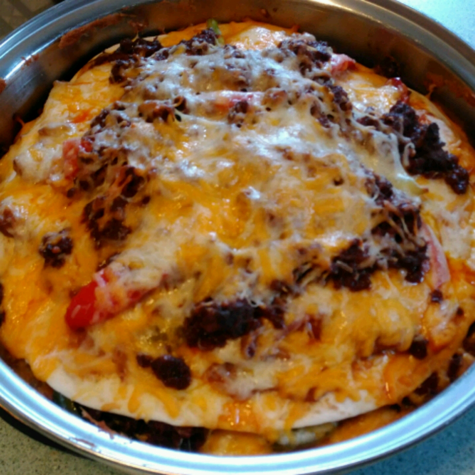 Mexican Deep-Dish Pizza