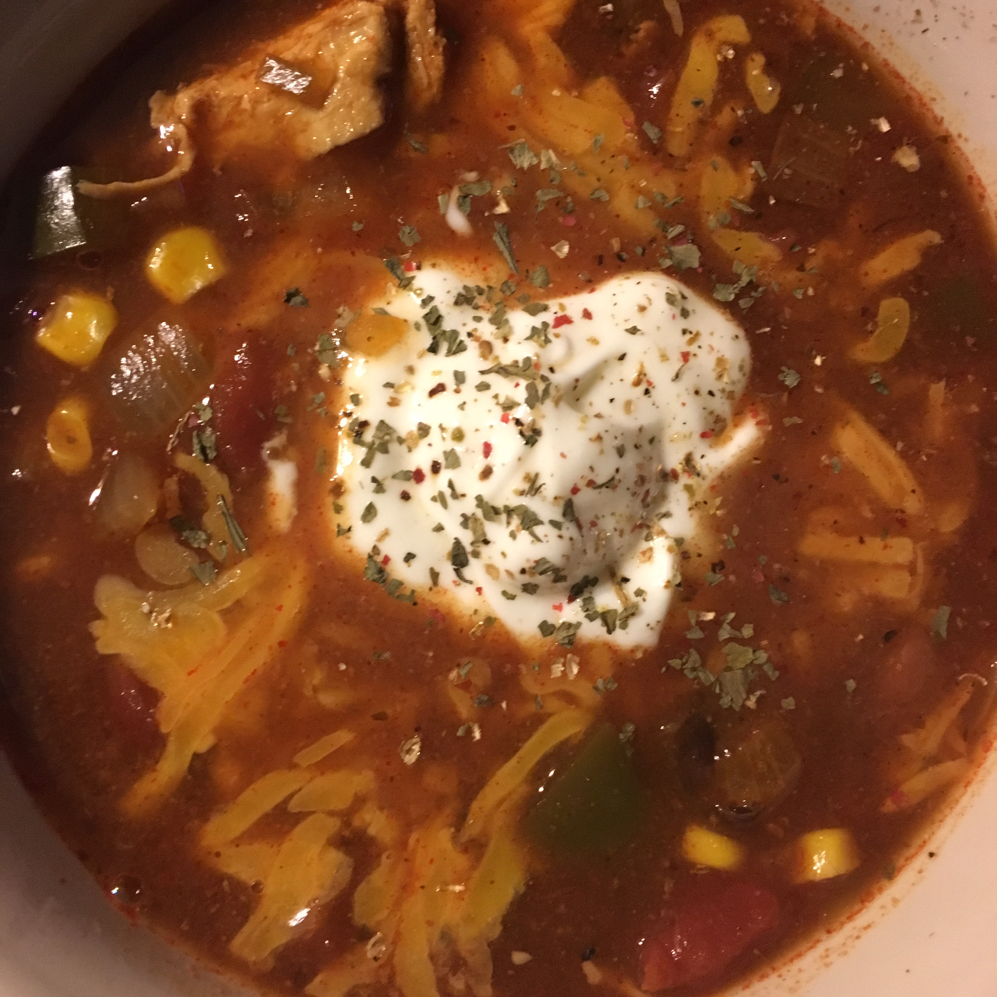 Slow Cooker Chicken Enchilada Soup NurseCarol1974