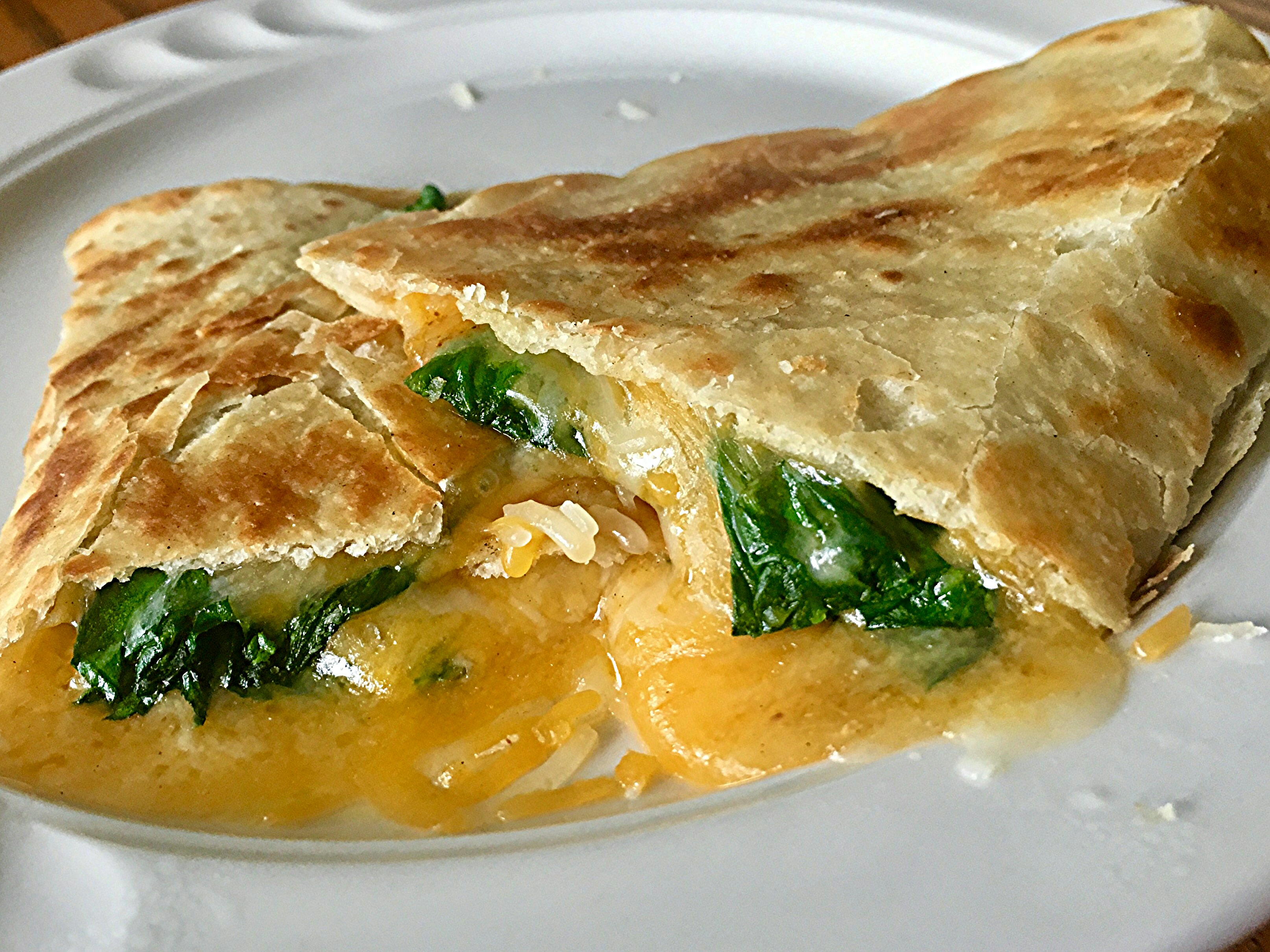 Spinach Whole Wheat Quesadillas Tracy X