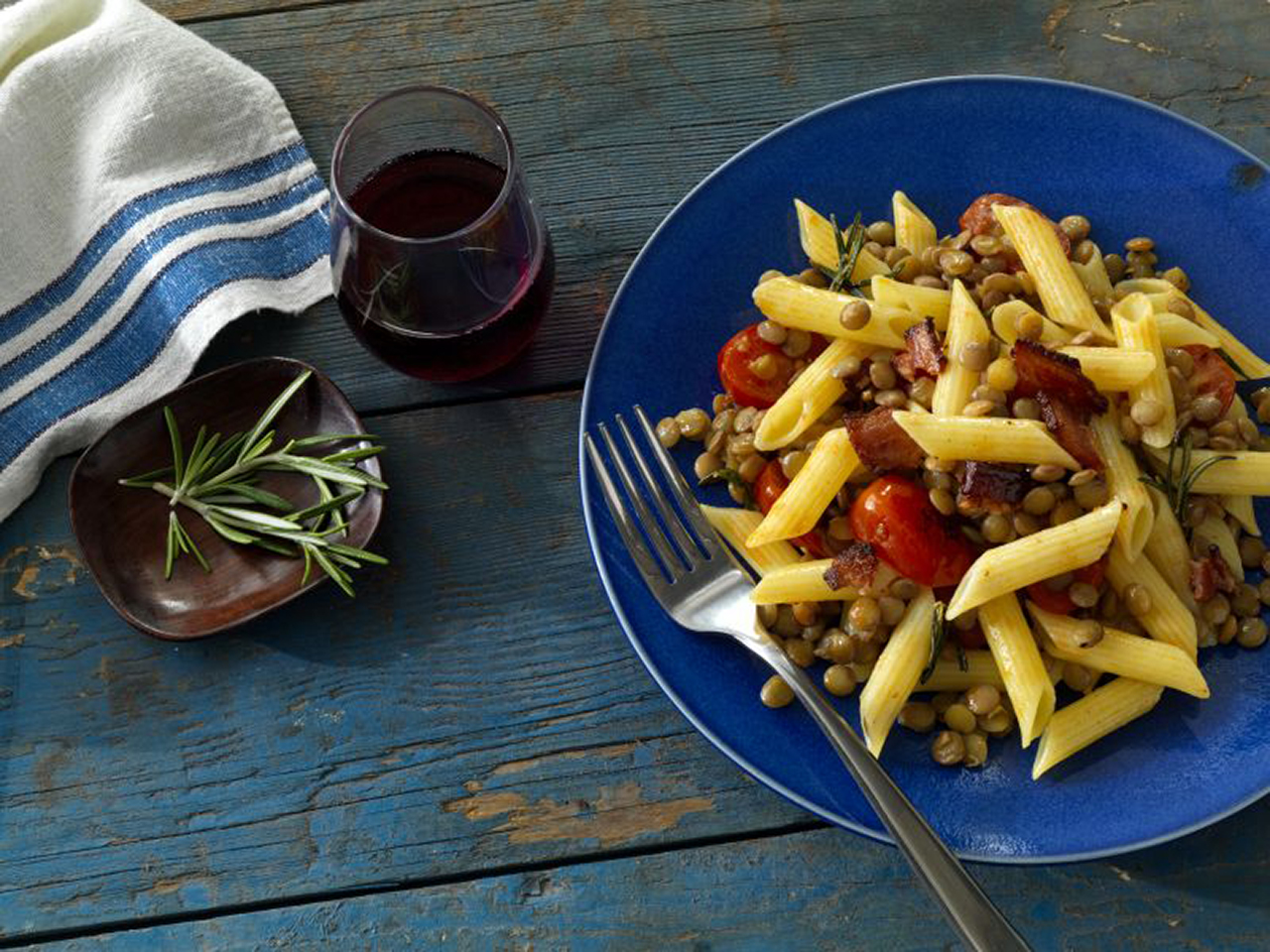 Barilla® Gluten Free Penne with Lentils & Bacon