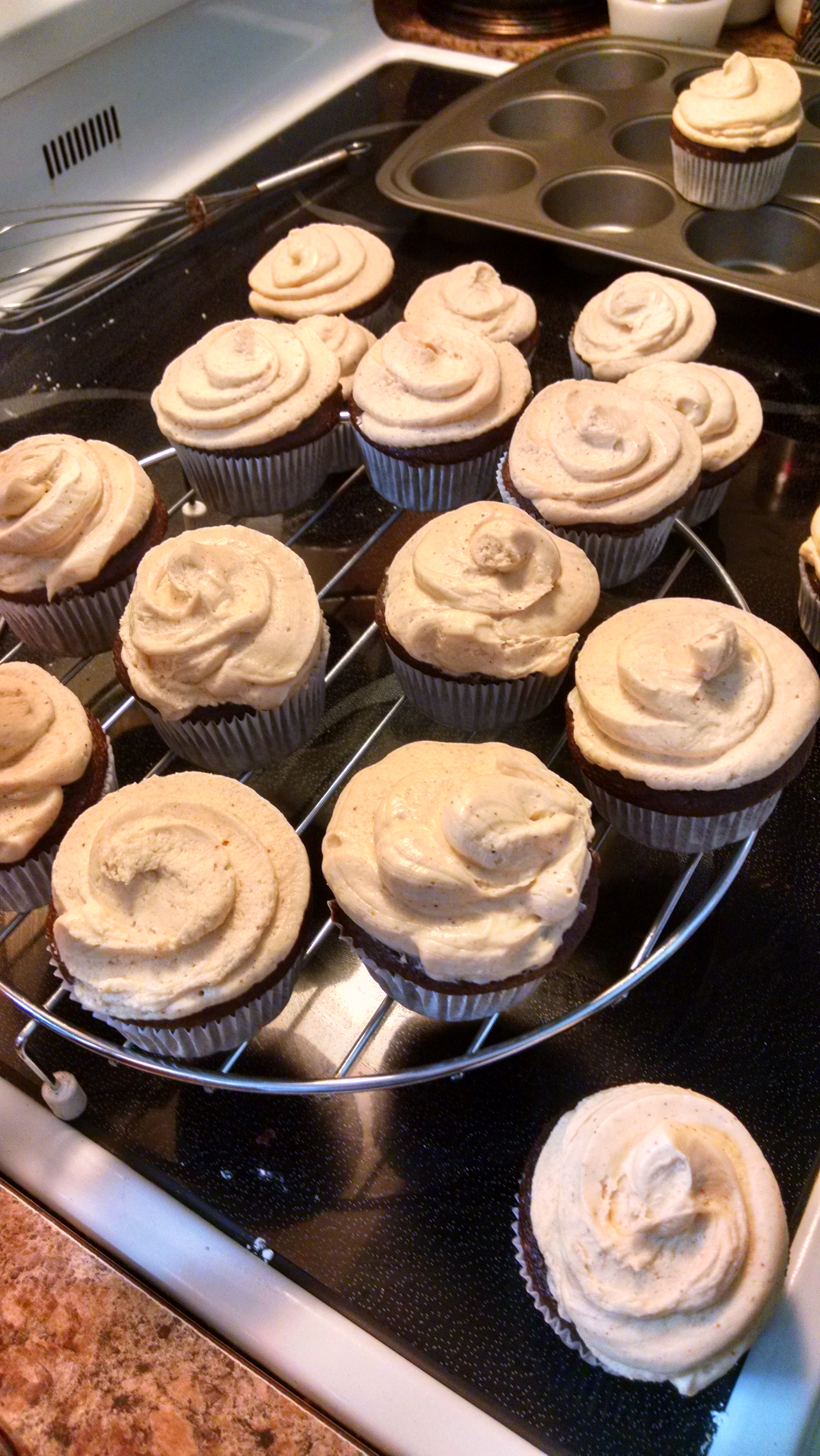 Cinco de Chili Chocolate Cupcakes with Chili Cream Cheese Frosting Dave Starr