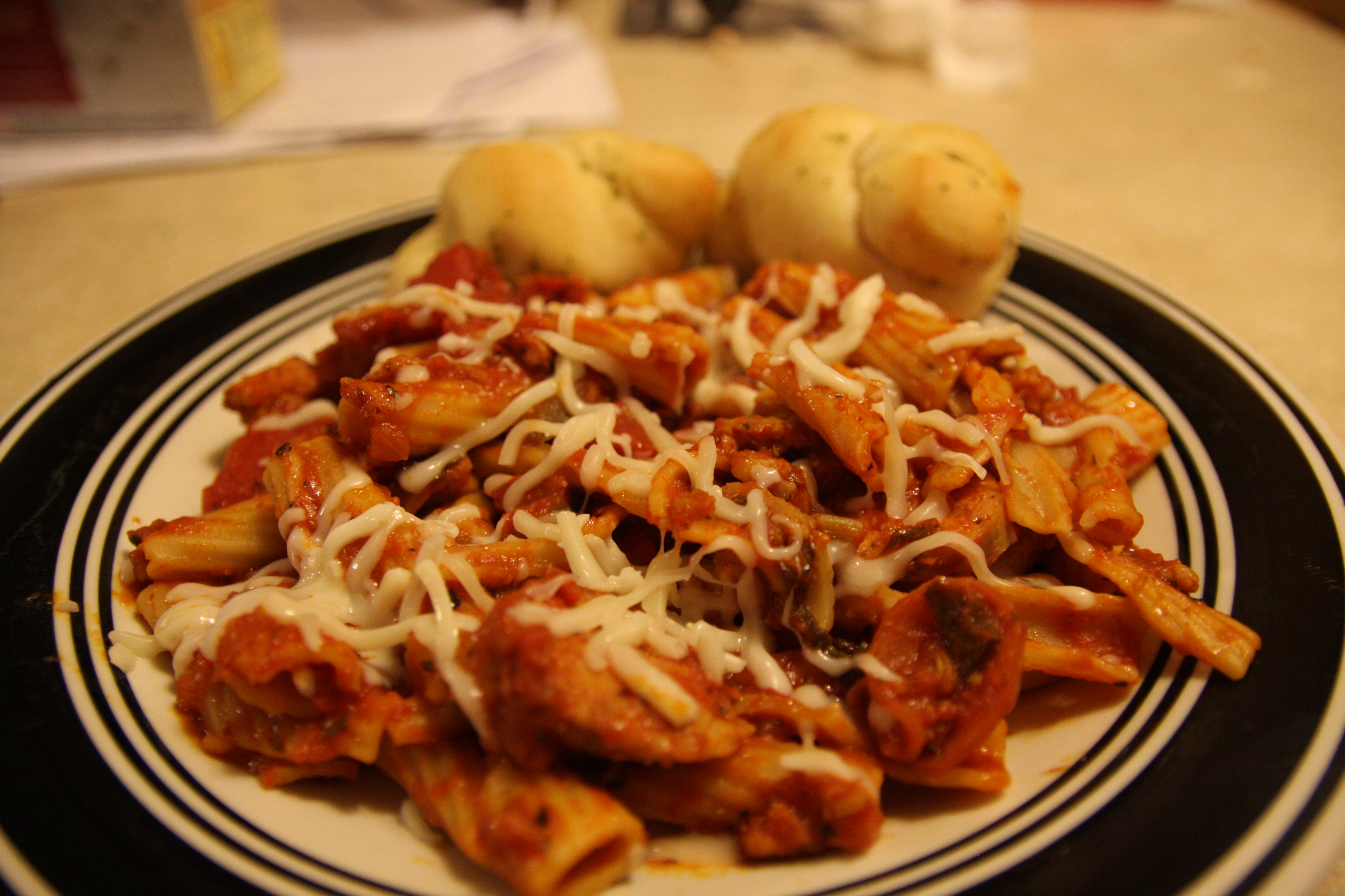Rigatoni with Pizza Accents Ronald S.