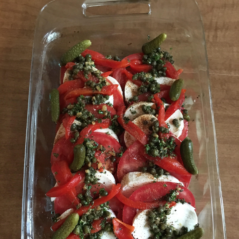 Mozzarella and Tomato Appetizer Tray