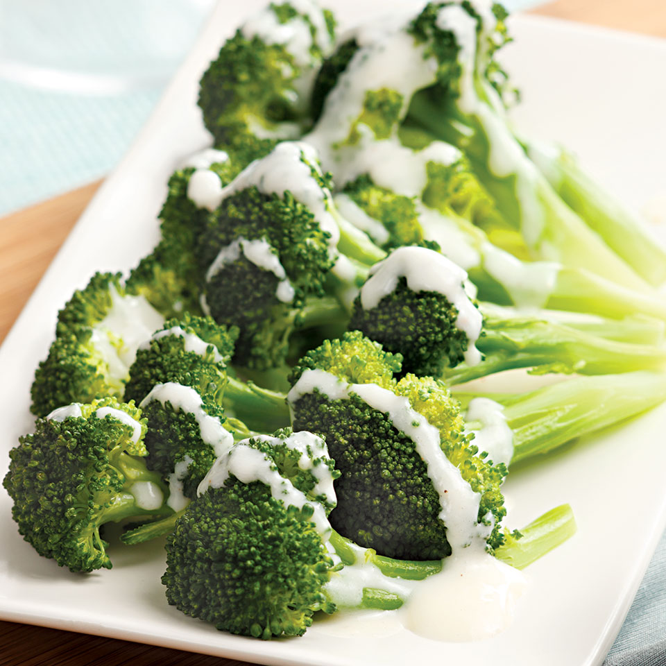 Broccoli with Creamy Parmesan Sauce EatingWell Test Kitchen
