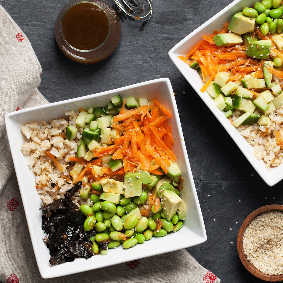 Vegetarian Sushi Grain Bowl Carolyn Casner