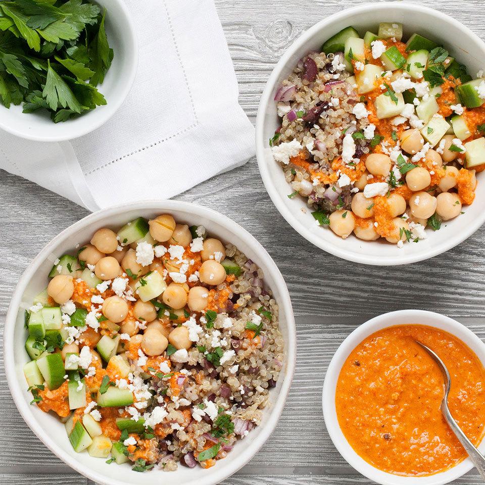 Mediterranean Chickpea Quinoa Bowl Carolyn Casner