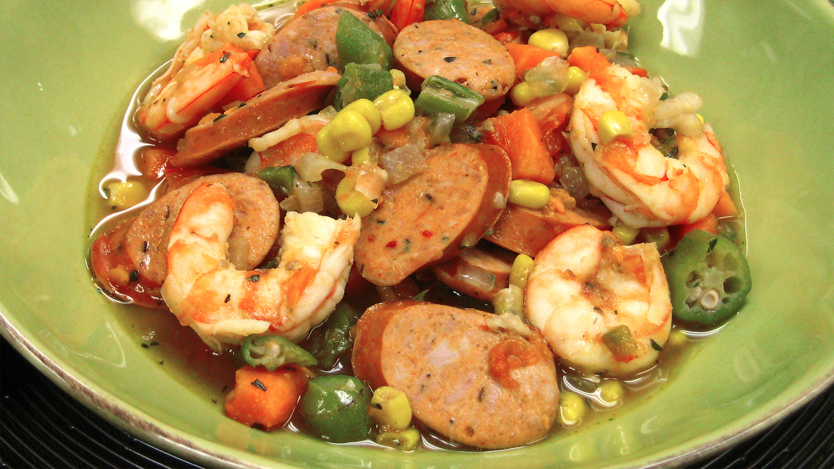 New Orleans Stew with Smoked Andouille Chicken Sausage