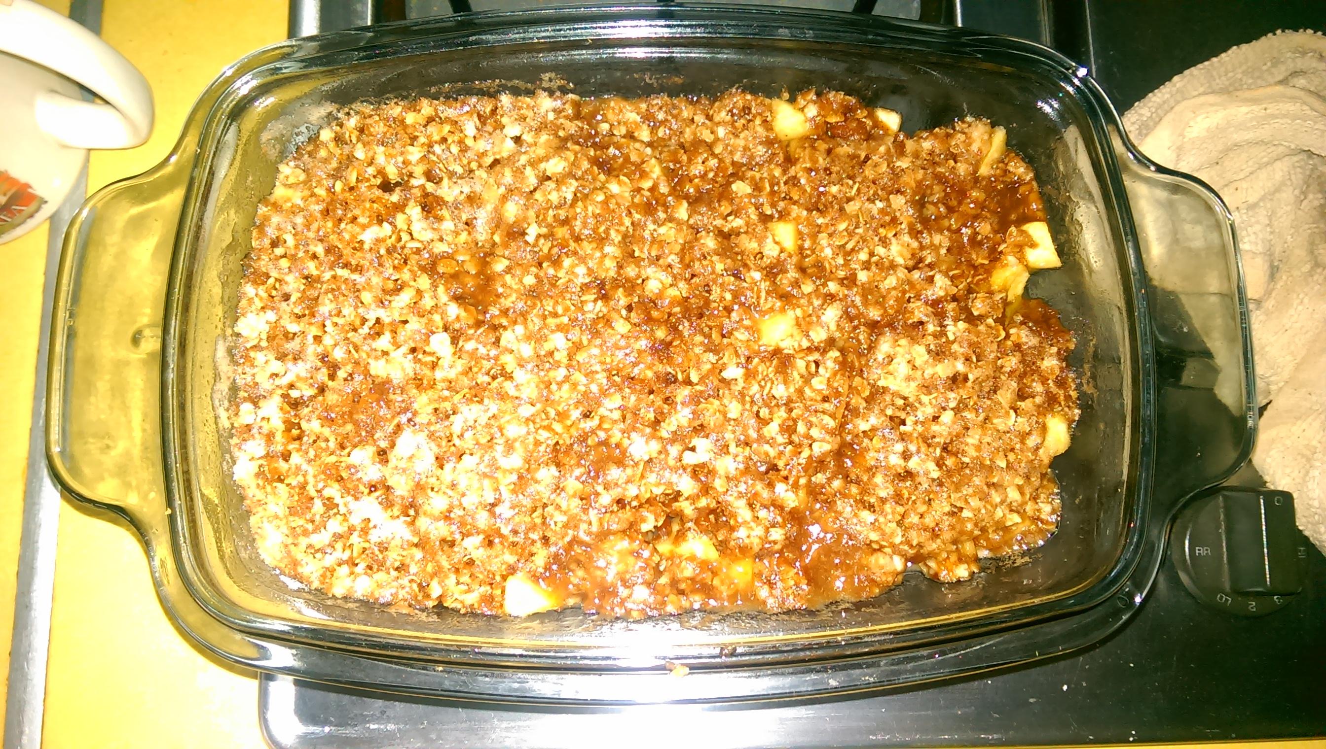 Microwave Apple Crisp MoMo