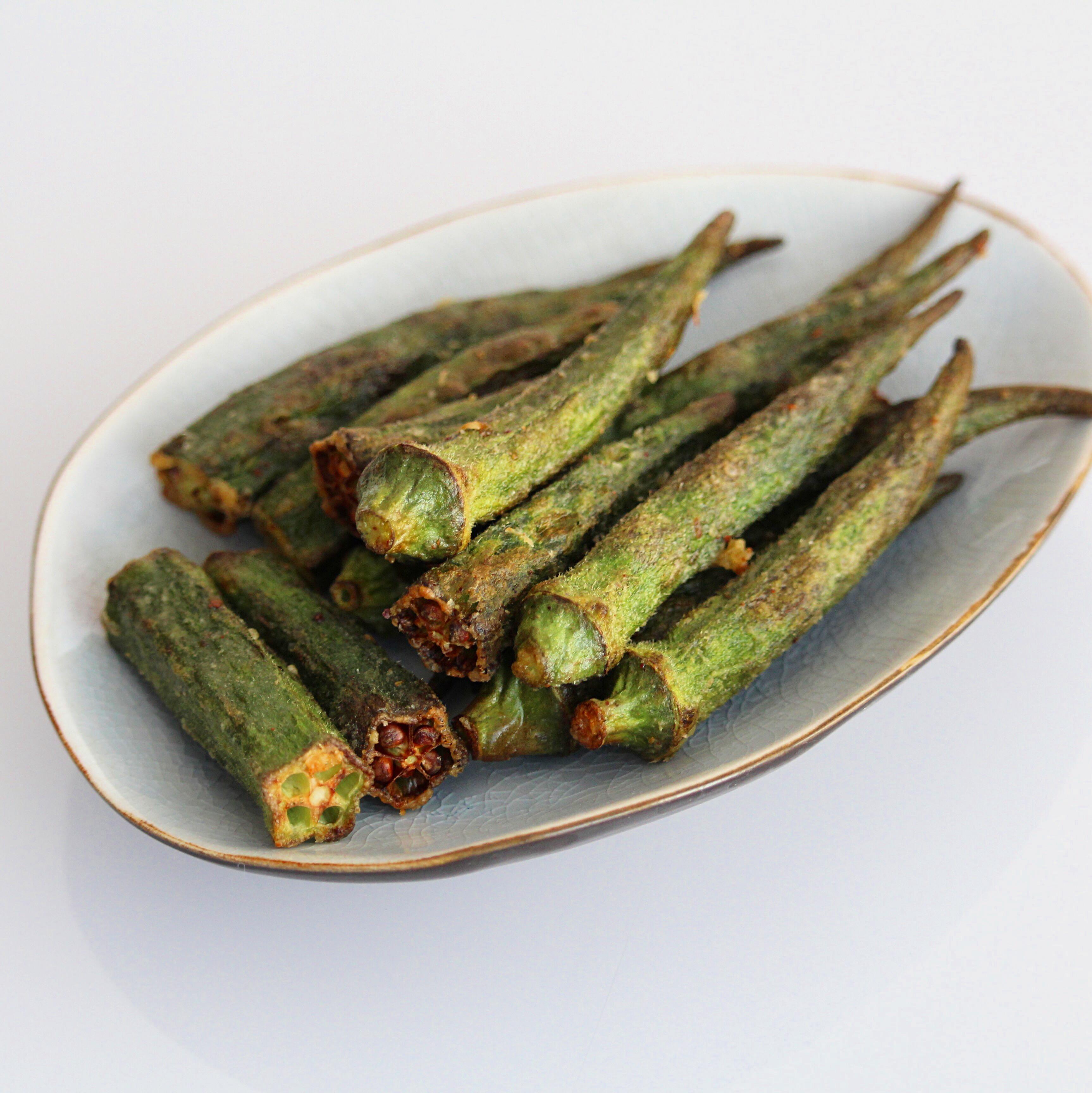 Spicy Air-Fried Okra