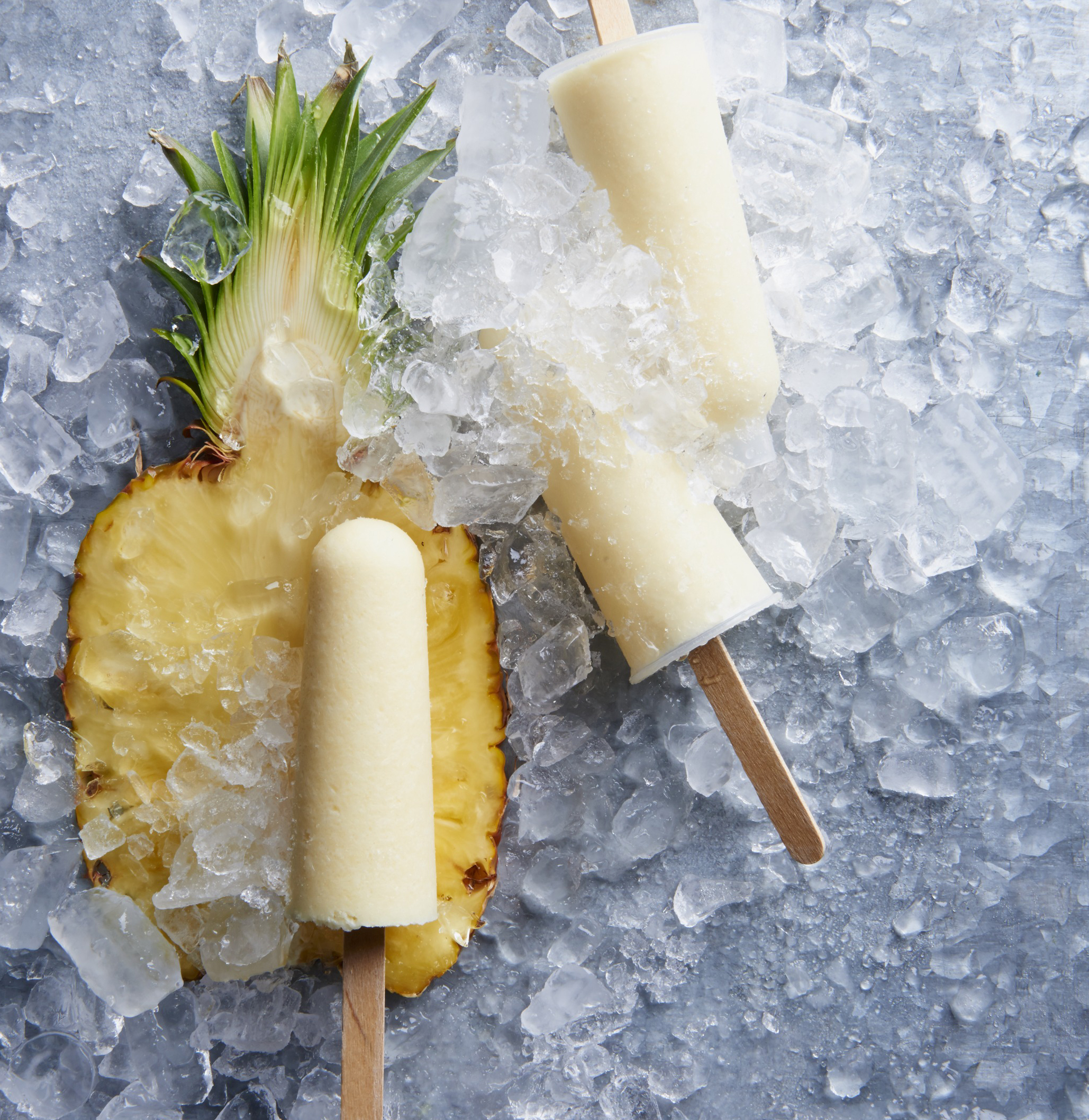 Ginger-Pina Colada Ice Pops