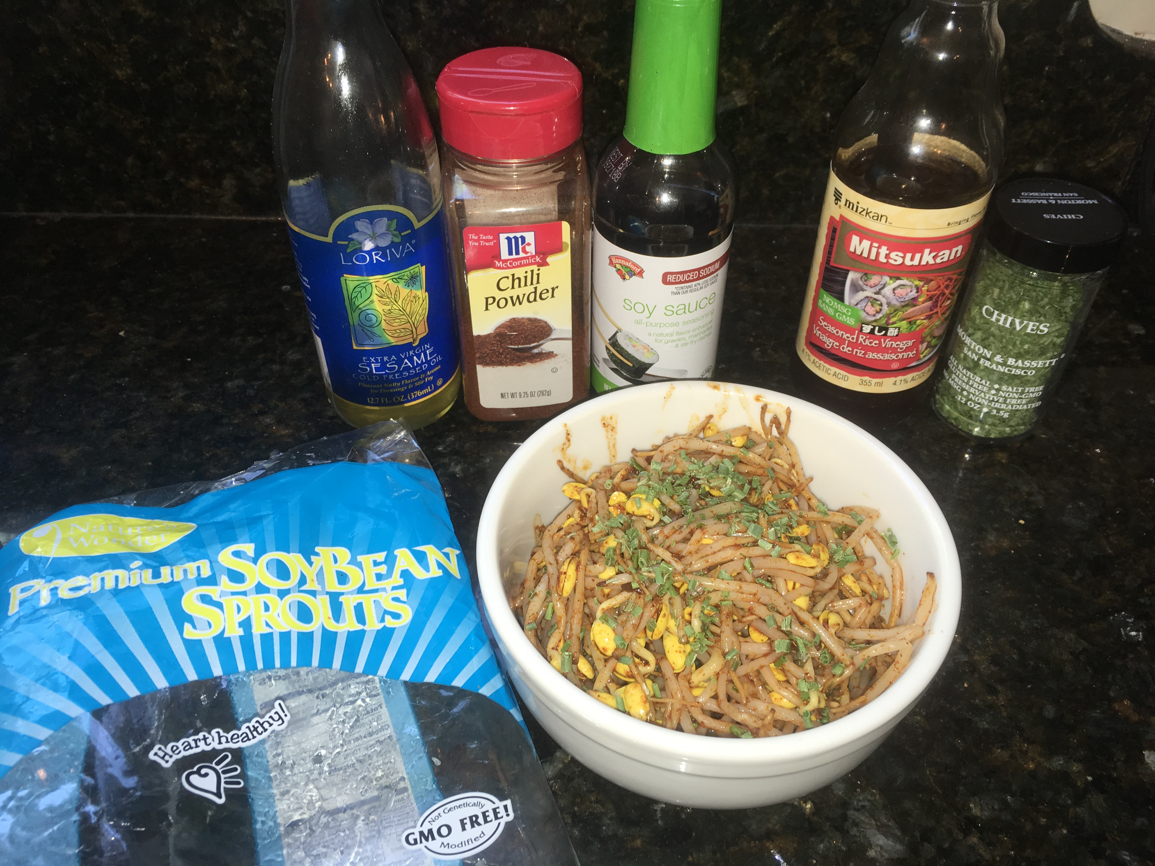Kongnamool (Korean Soybean Sprouts)