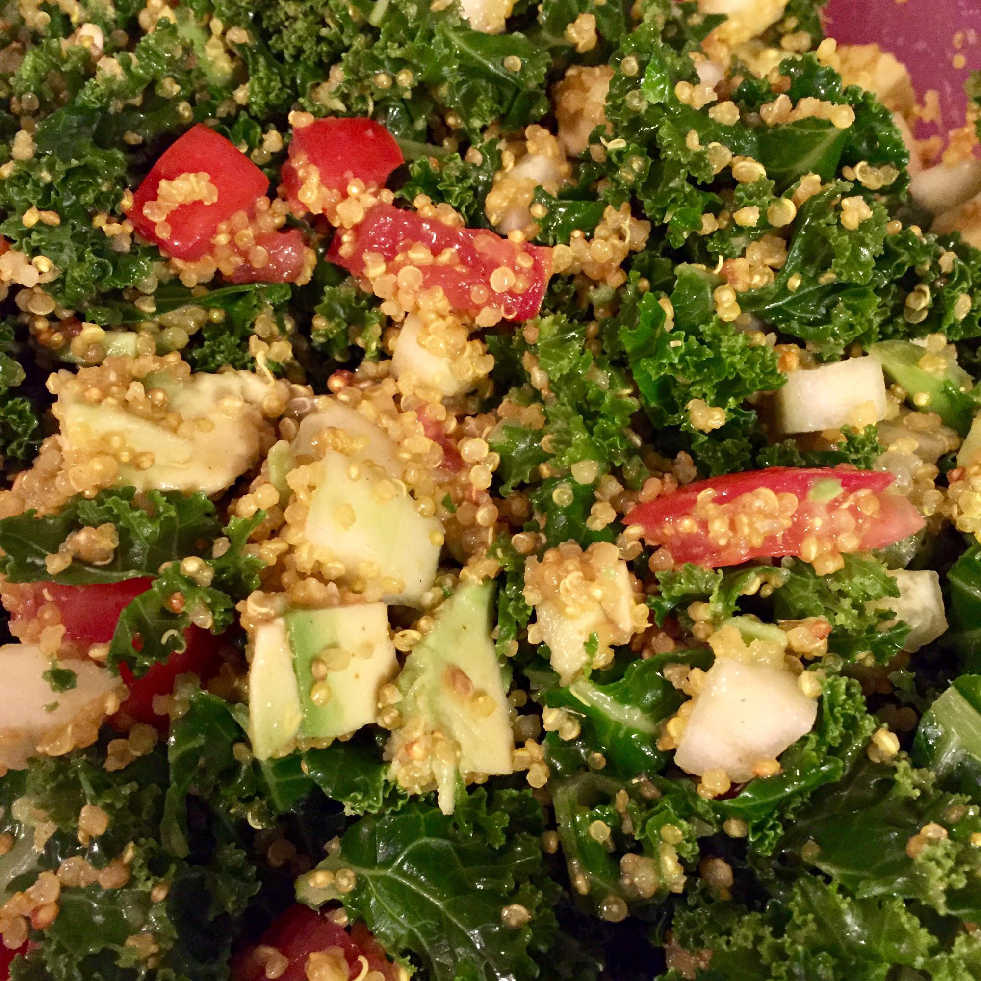 Kale Quinoa Salad cliffycliffycliff