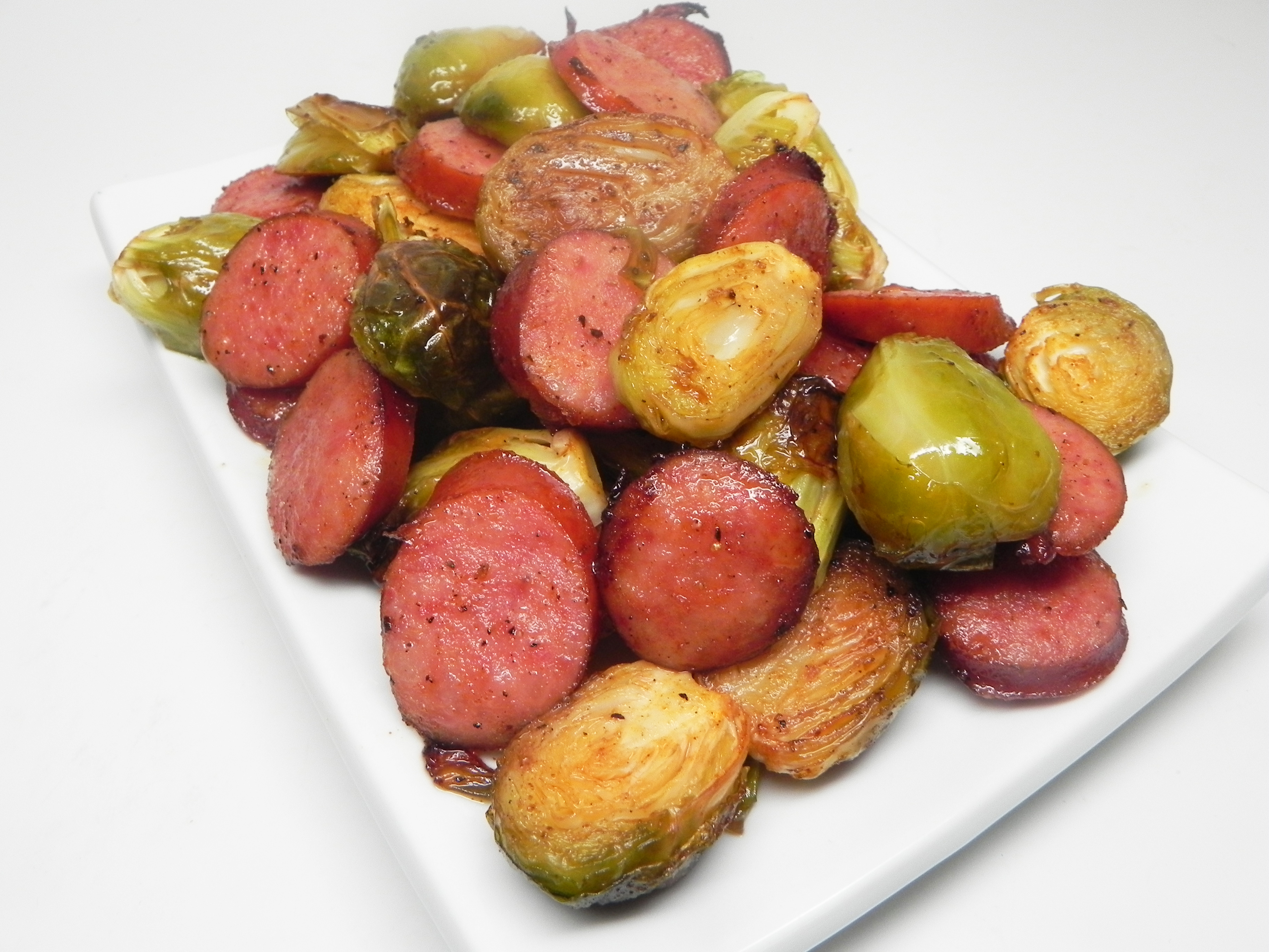 Roasted Brussels Sprouts and Kielbasa