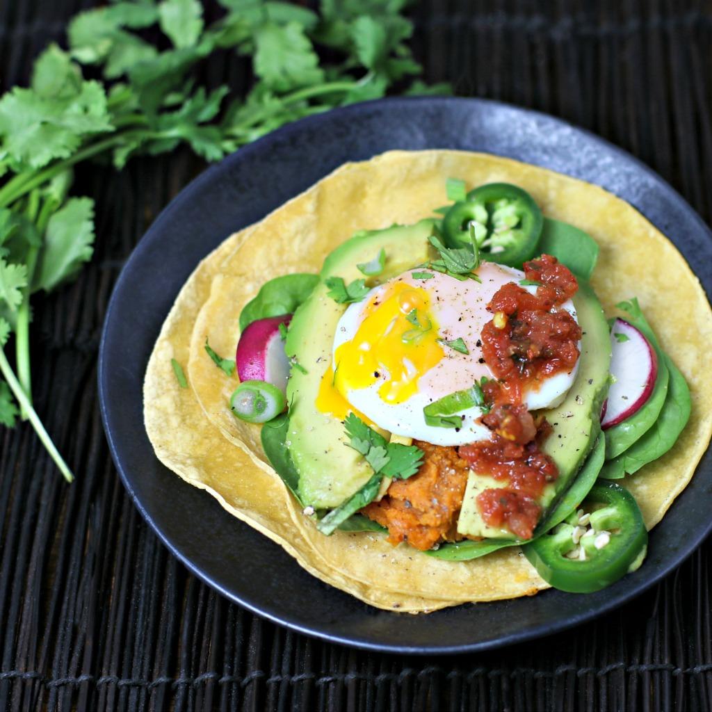 Sweet Potato-Pinto Bean Breakfast Taco
