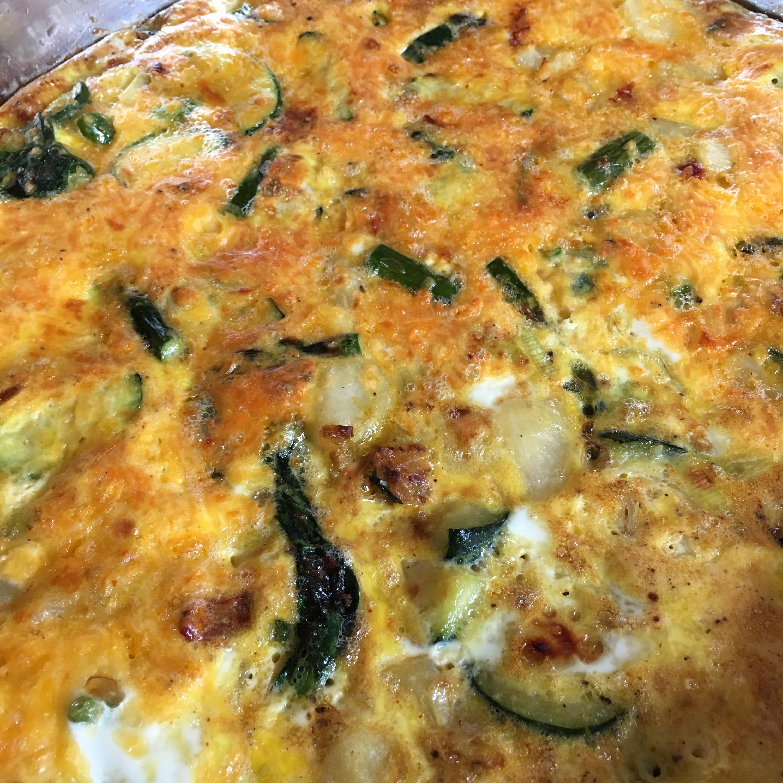 Spring Vegetable Frittata for Mother