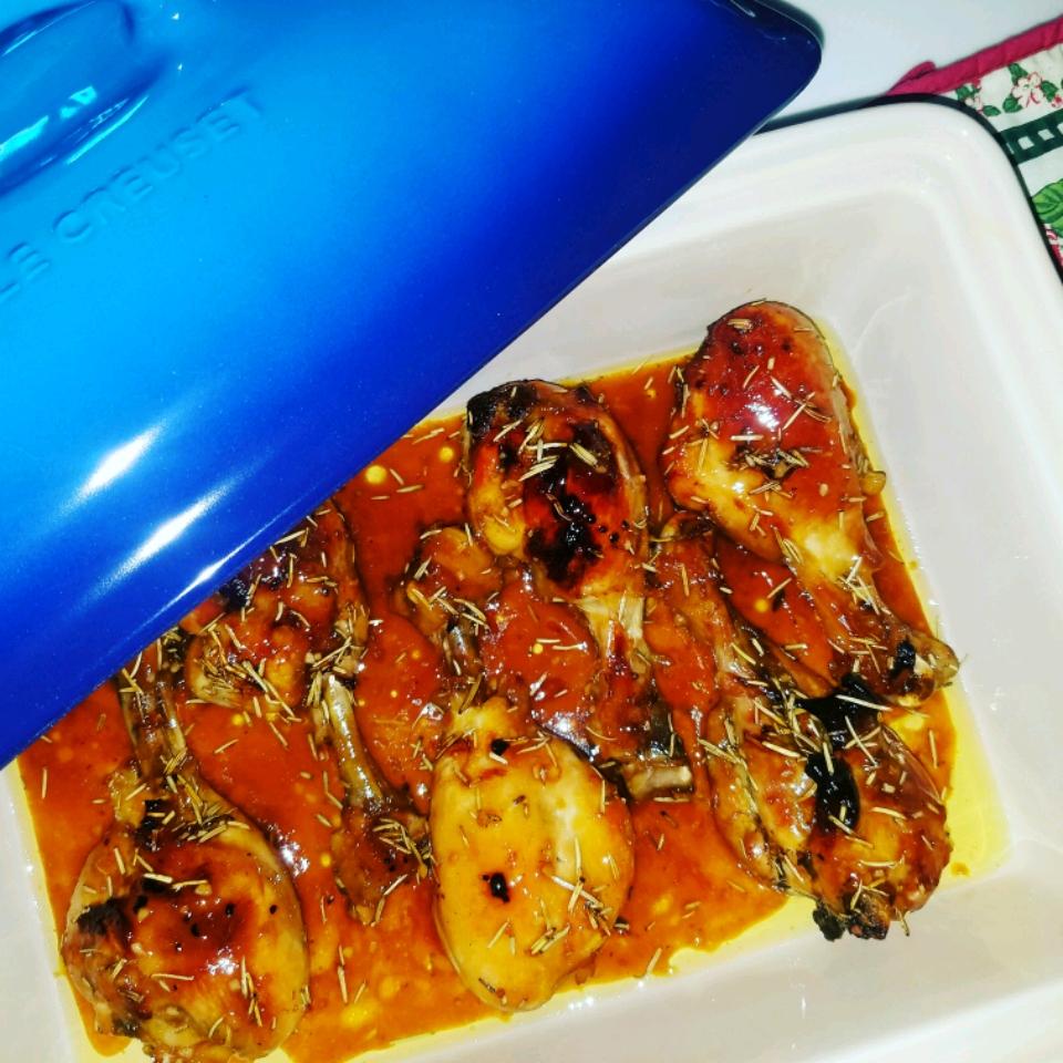 Roasted Orange Rosemary Honey Glazed Chicken Bluefrogy