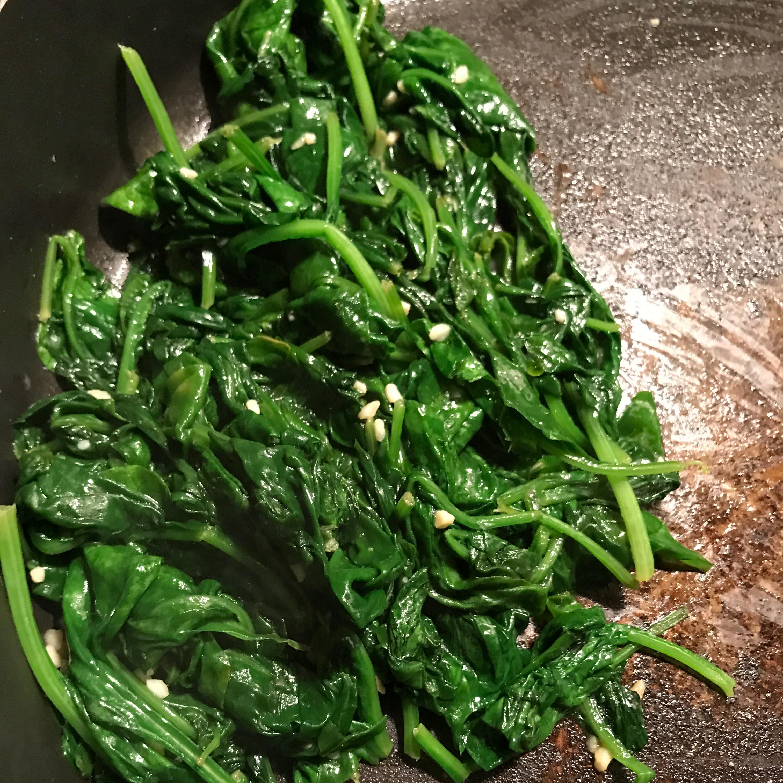 Garlic Spinach Tasha
