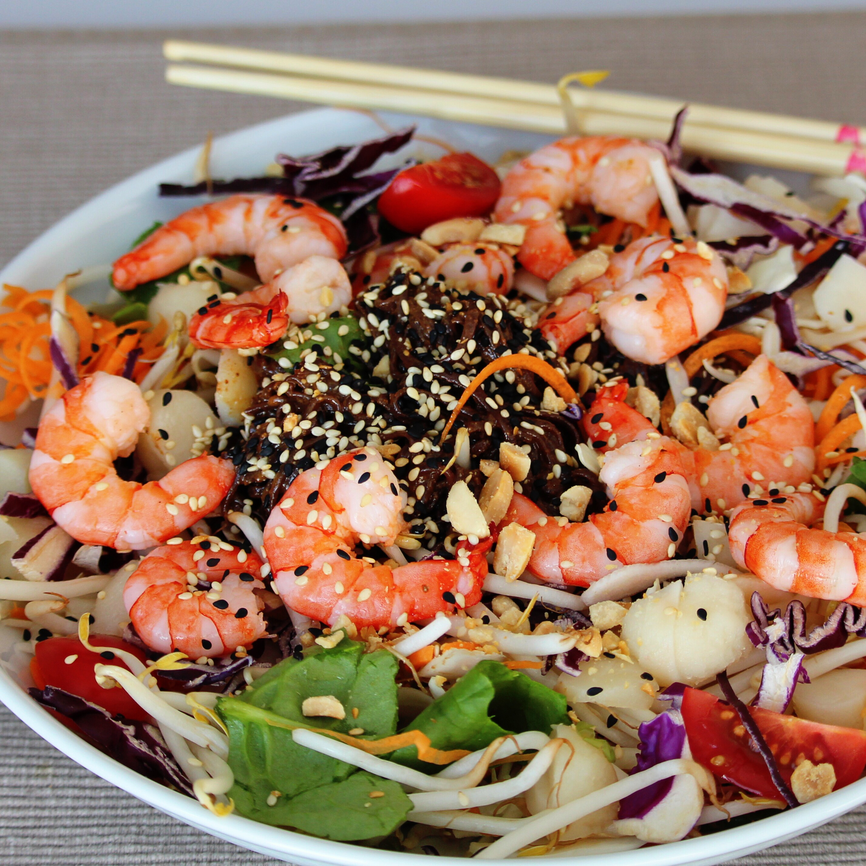 Shrimp and Soba Noodle Salad Buckwheat Queen