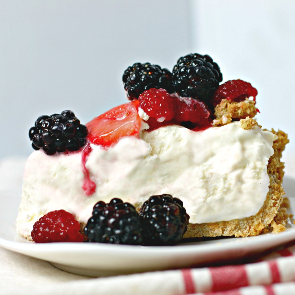 Frozen Lemonade Pie with Berries