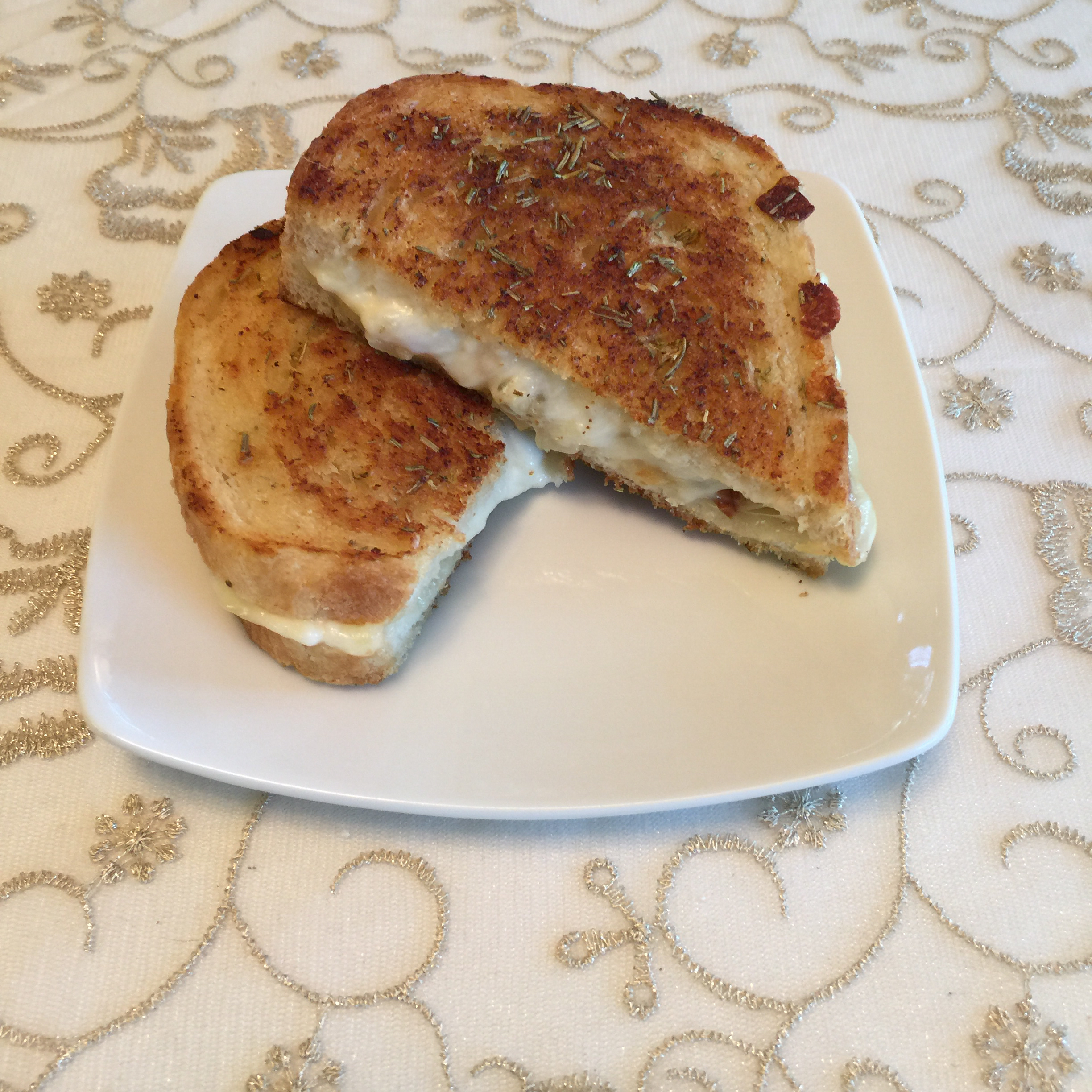 White Pizza Grilled Cheese Bonnie Harling