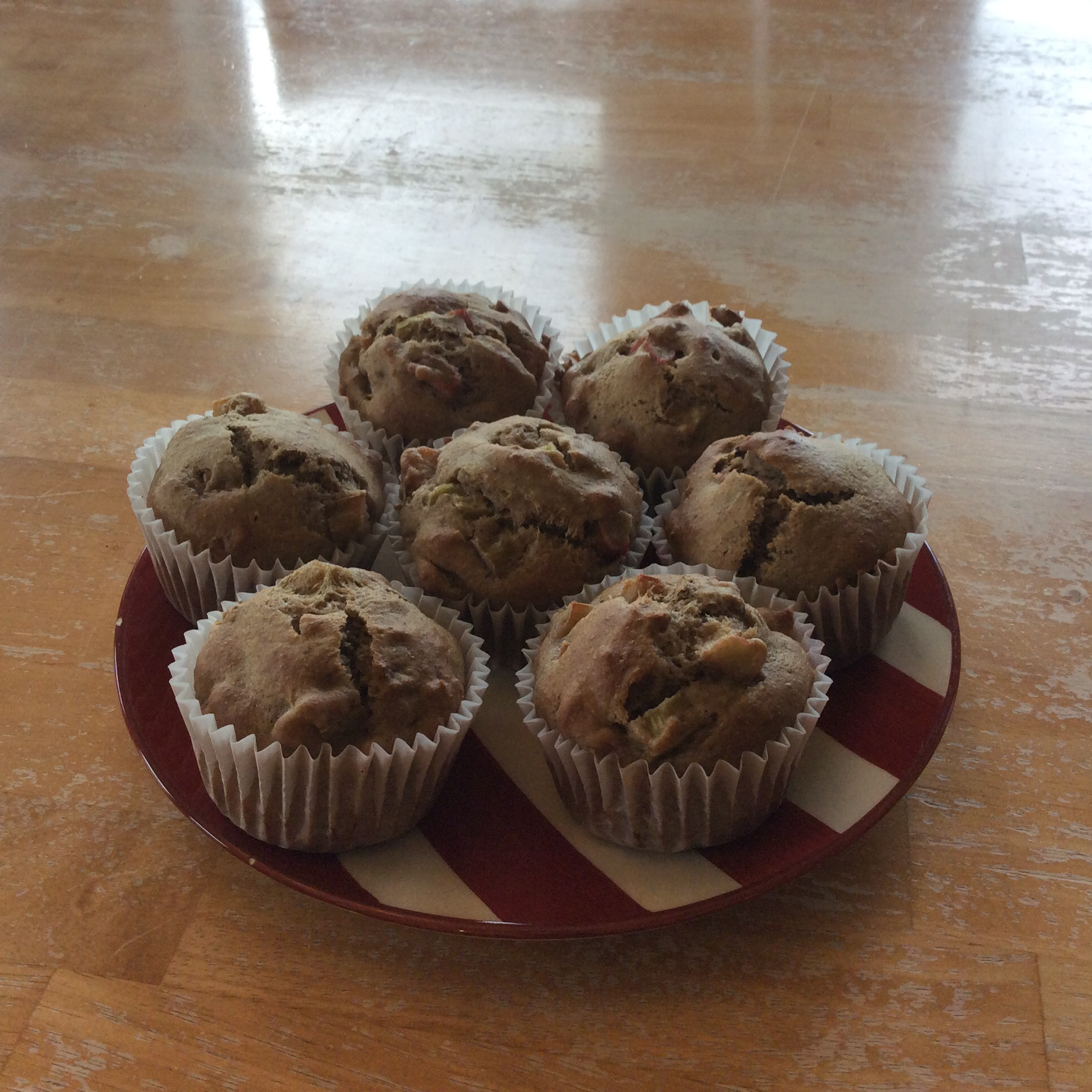 Aunt Norma's Rhubarb Muffins Crabbiguy