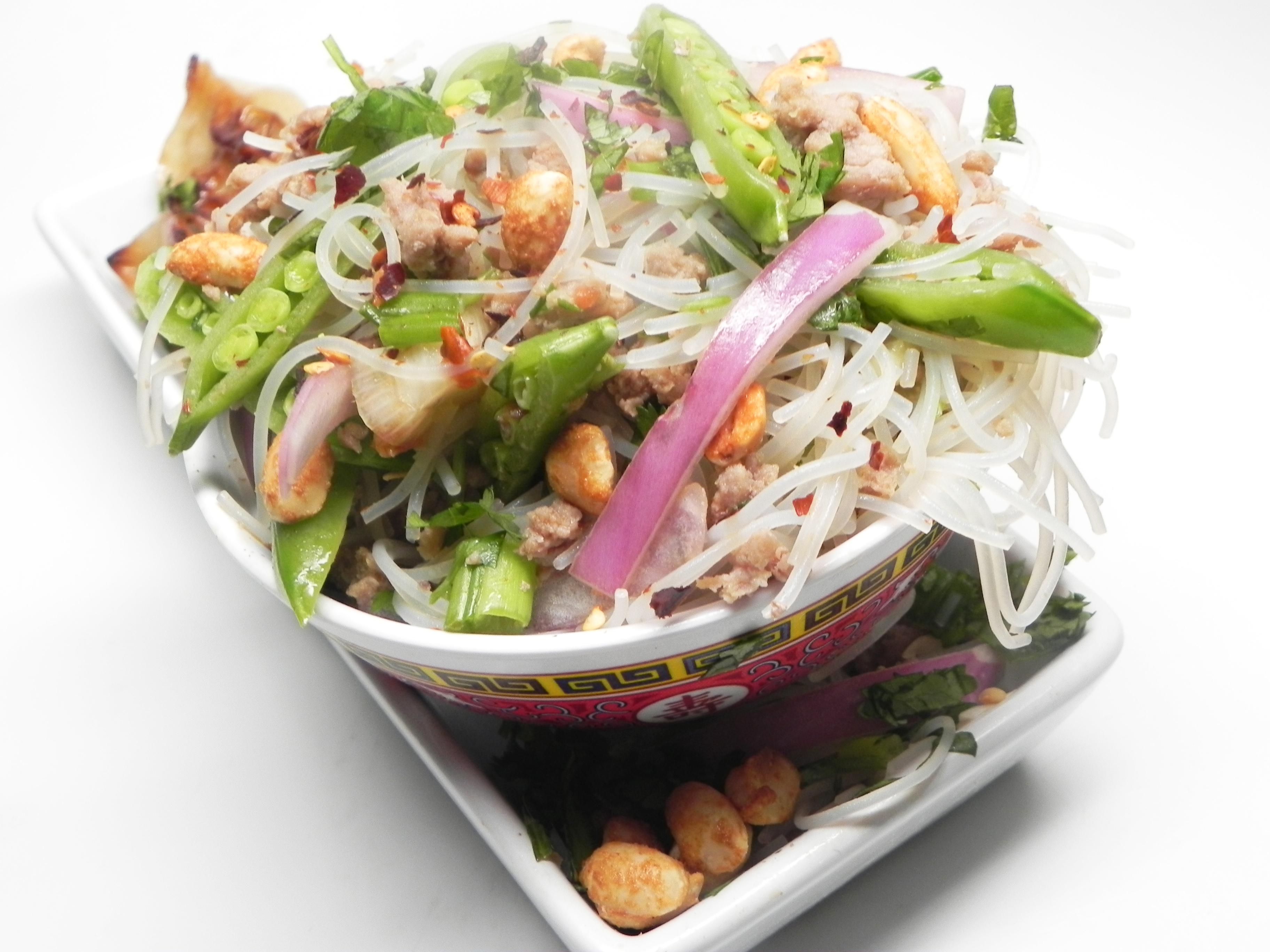 Asian Rice Noodle Salad Soup Loving Nicole