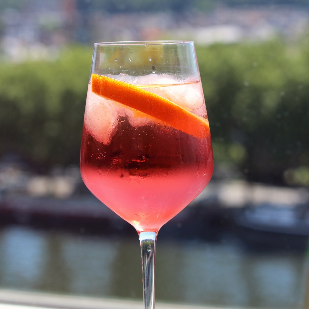 "Similar to Campari but even lower in alcohol, Aperol is an Italian aperitif that's also a smidge less bitter, making it a terrific drink for turkey day. ""This is such a refreshing drink,"" says sonjagroset. ""Aperol isn't available everywhere, but is worth seeking out. It's a little bitter, but combined with the sweetness of the Prosecco, it makes the perfect, thirst-quenching cocktail."""