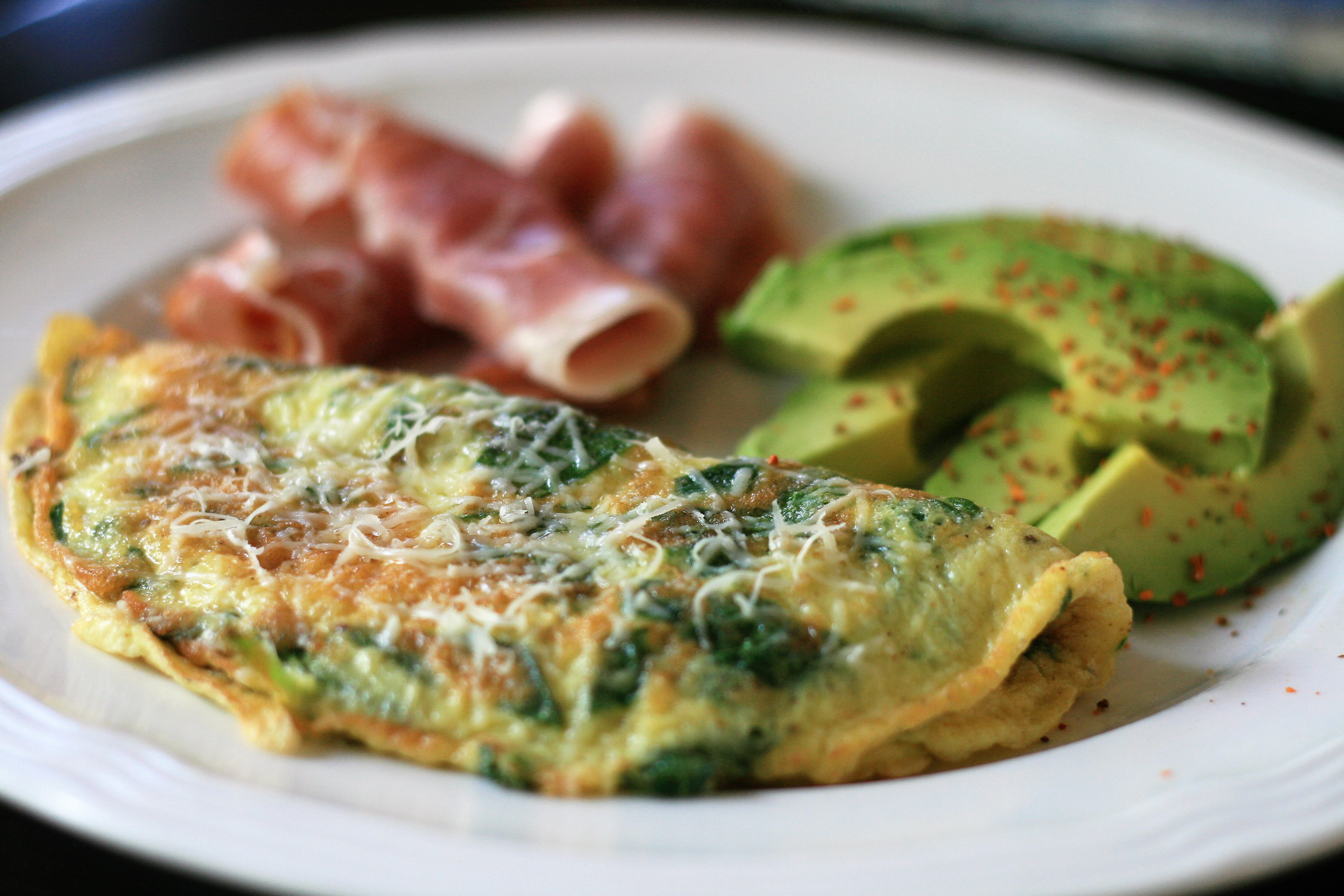 Baby Spinach Omelet HOLLYJUNE