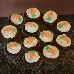 Carrot Cupcakes with White Chocolate Cream Cheese Icing