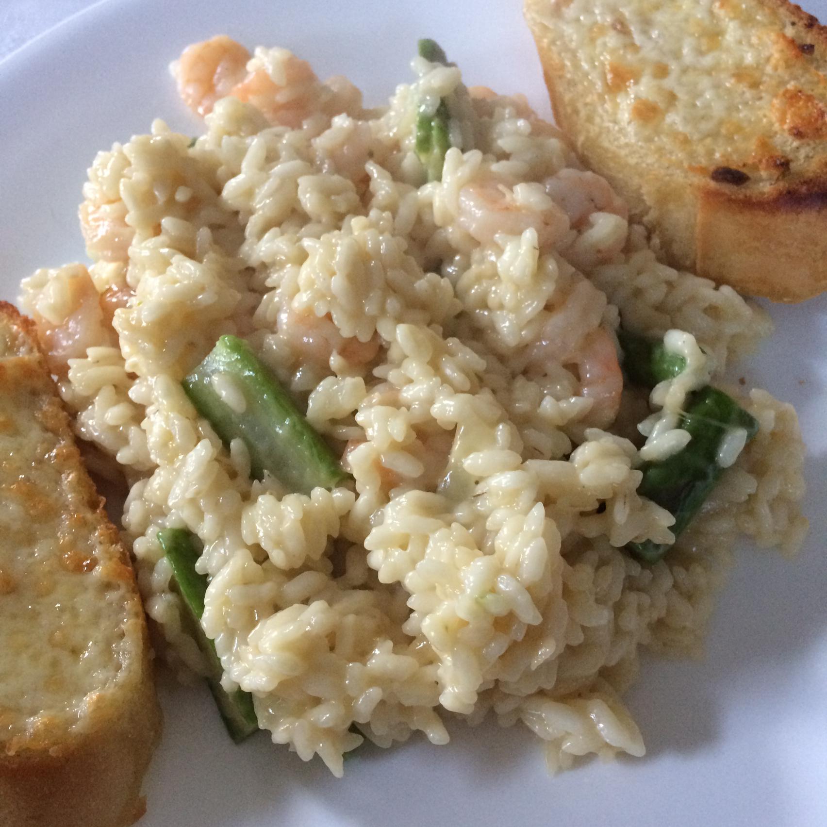 Garlic Shrimp and Asparagus Risotto nlodge