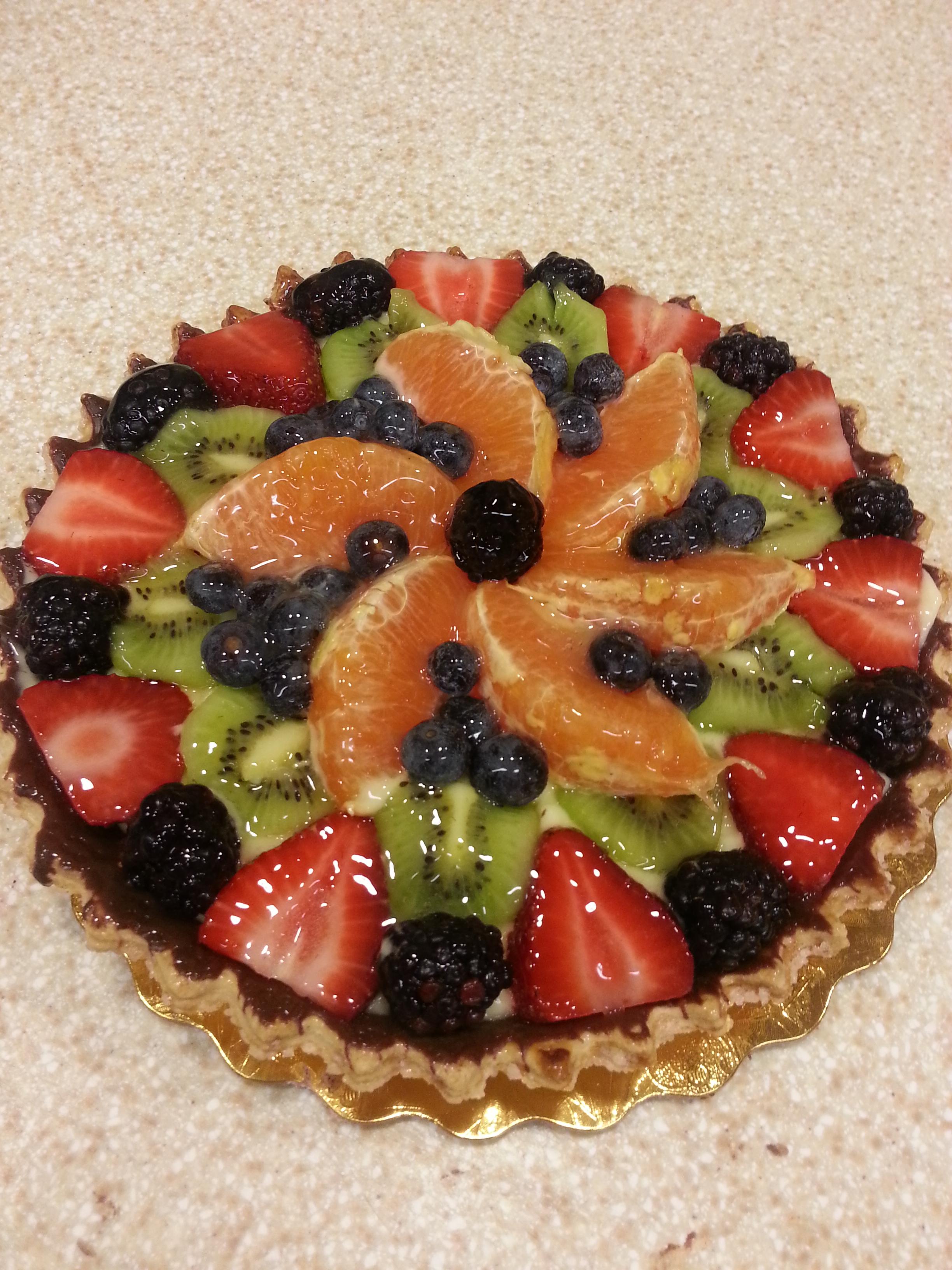 Fresh Fruit Tart with Mascarpone