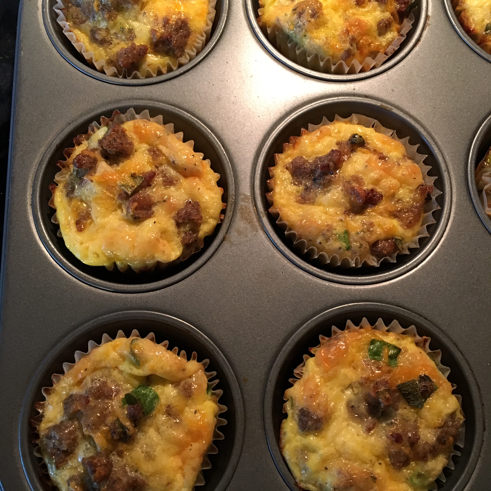 Sausage and Scallion Egg Muffins Amy Walker